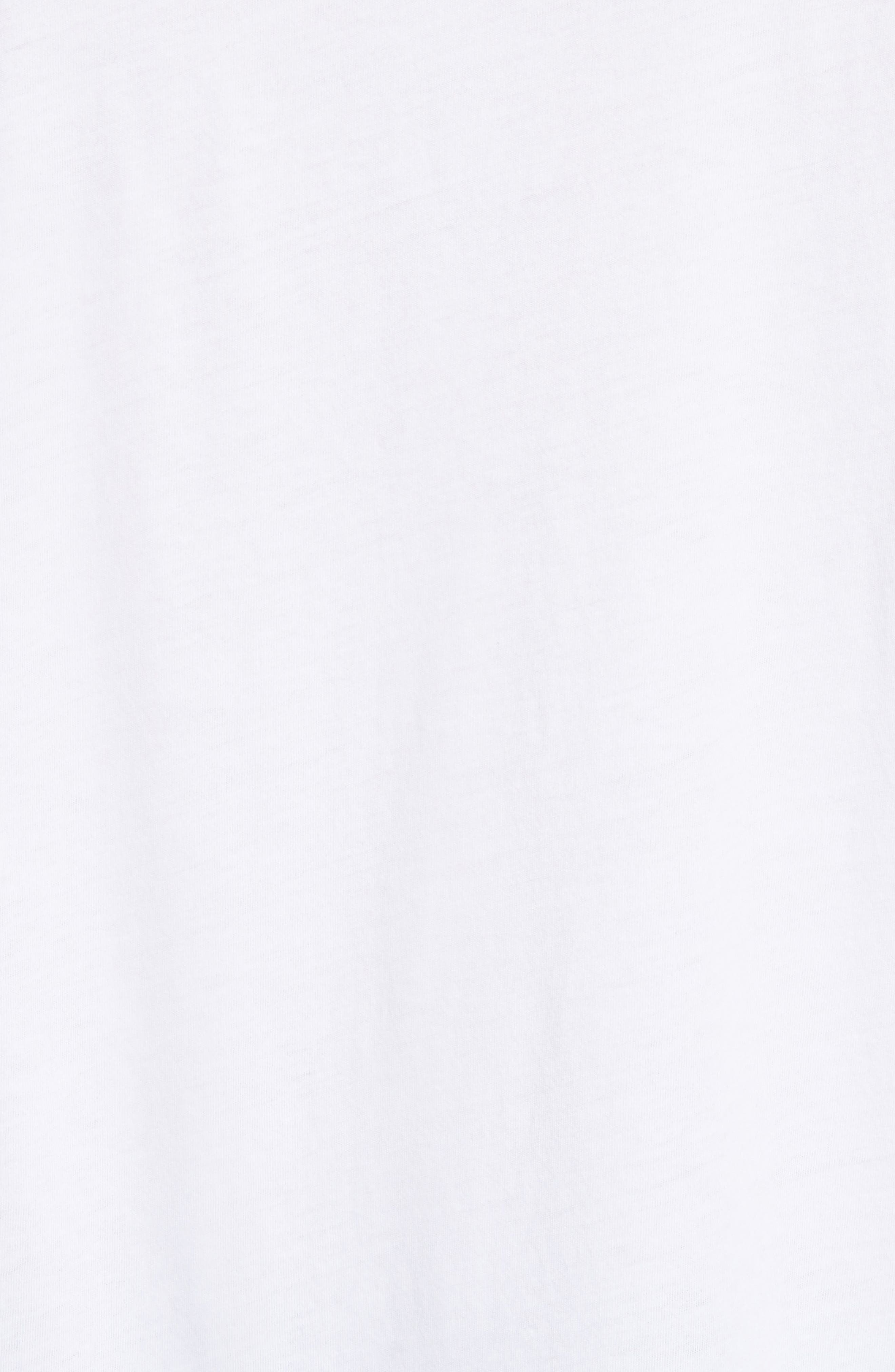 Cotton Jersey T-Shirt,                             Alternate thumbnail 5, color,                             WHITE