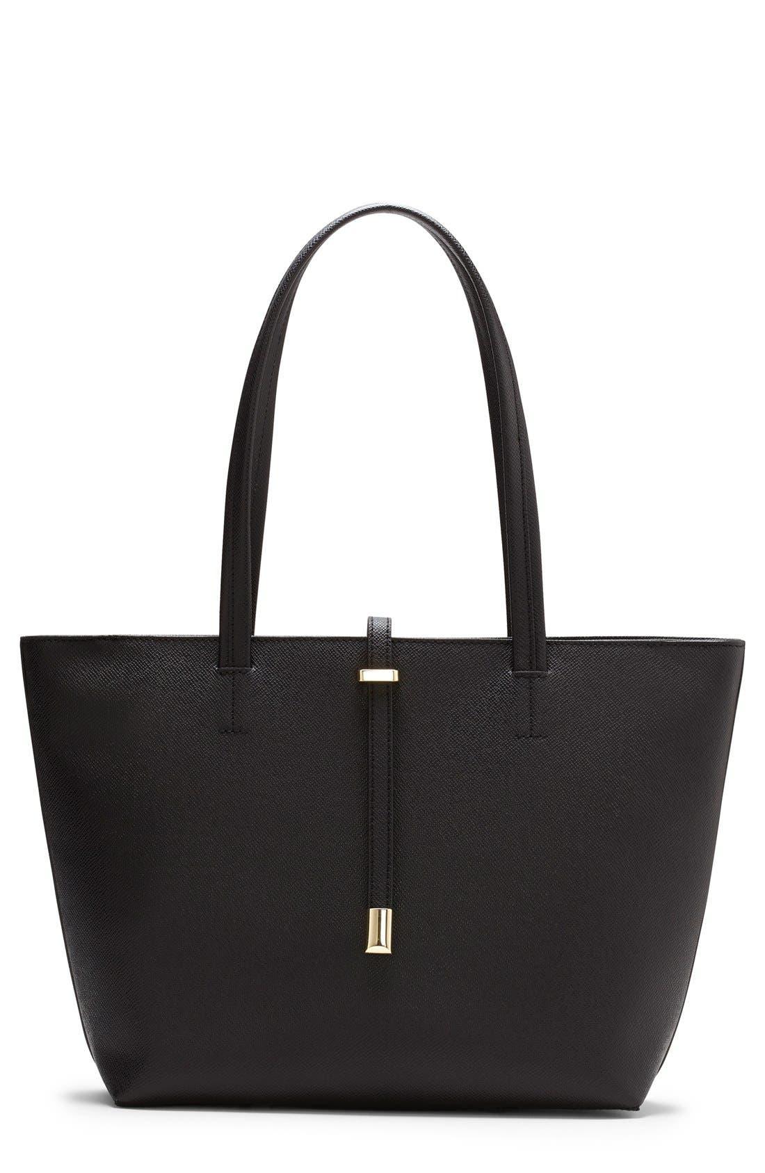 'Leila - Small' Leather Tote,                         Main,                         color, 001