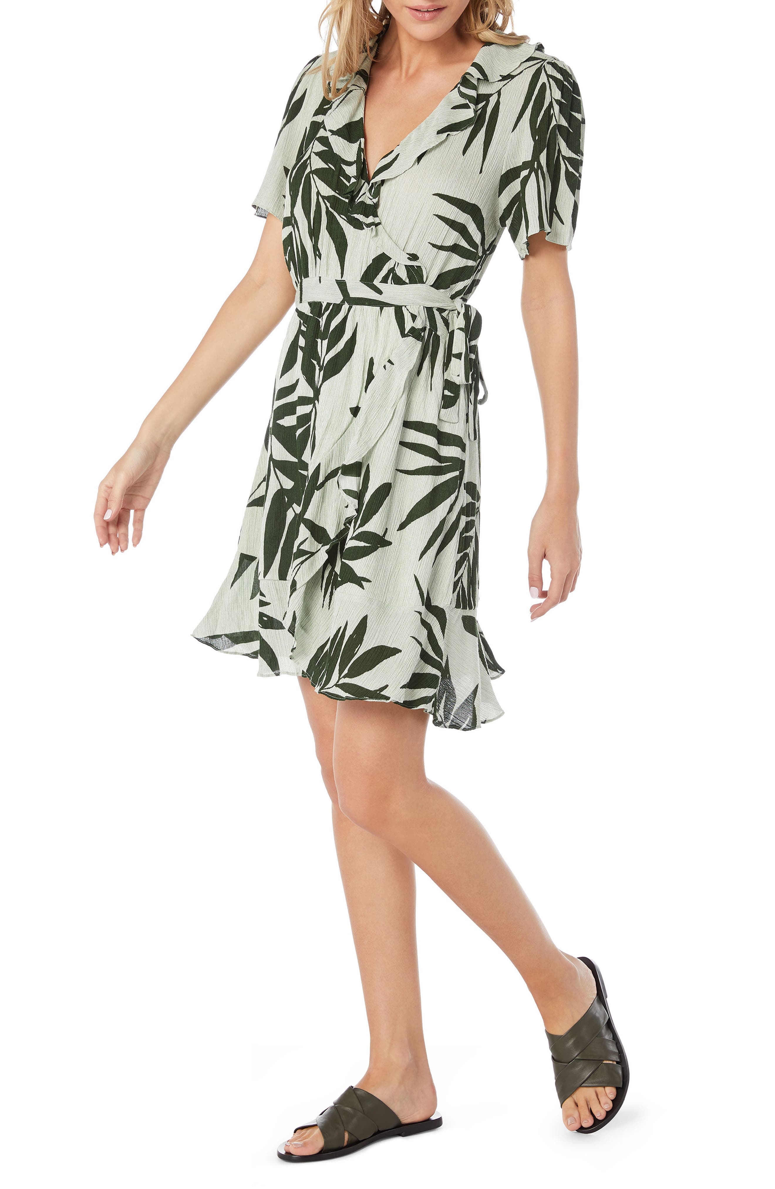 Paradiso Wrap Dress,                             Alternate thumbnail 3, color,                             340