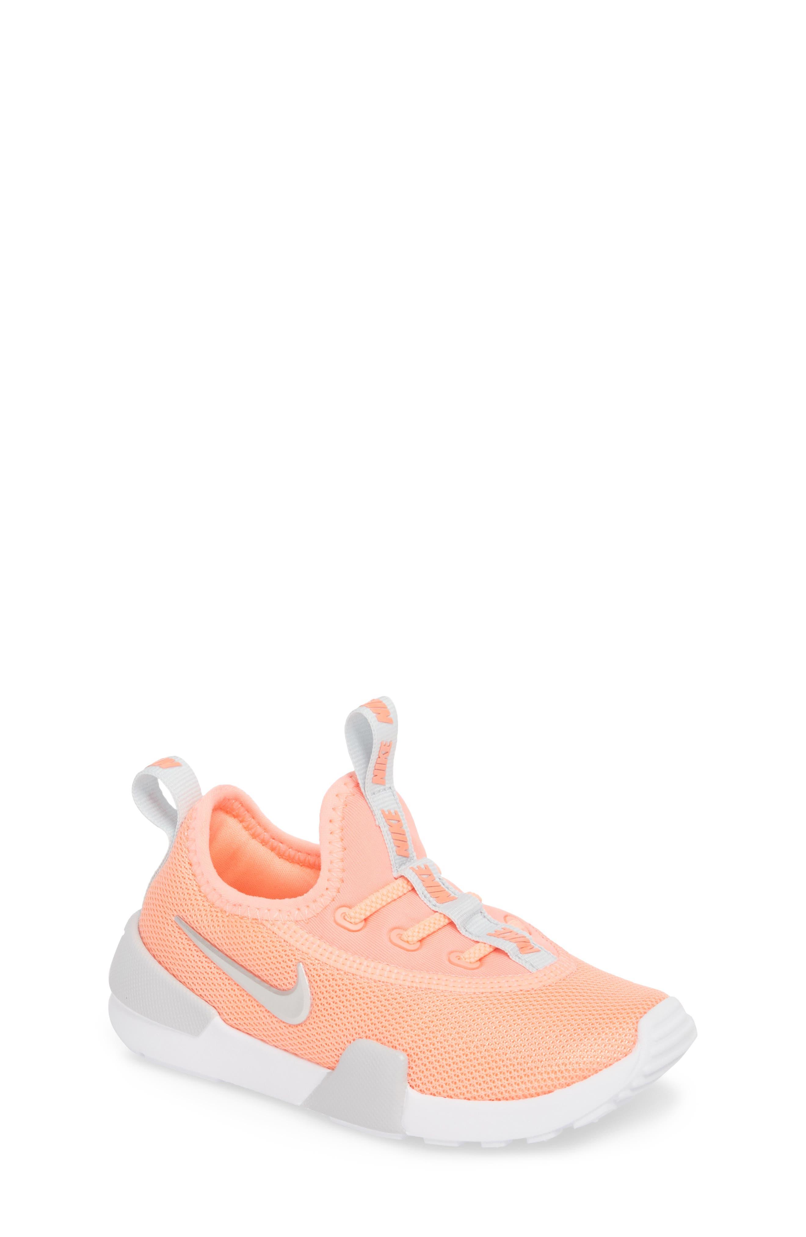 Ashin Modern Sock Knit Sneaker,                             Main thumbnail 1, color,                             ATOMIC PINK/ METALLIC SILVER