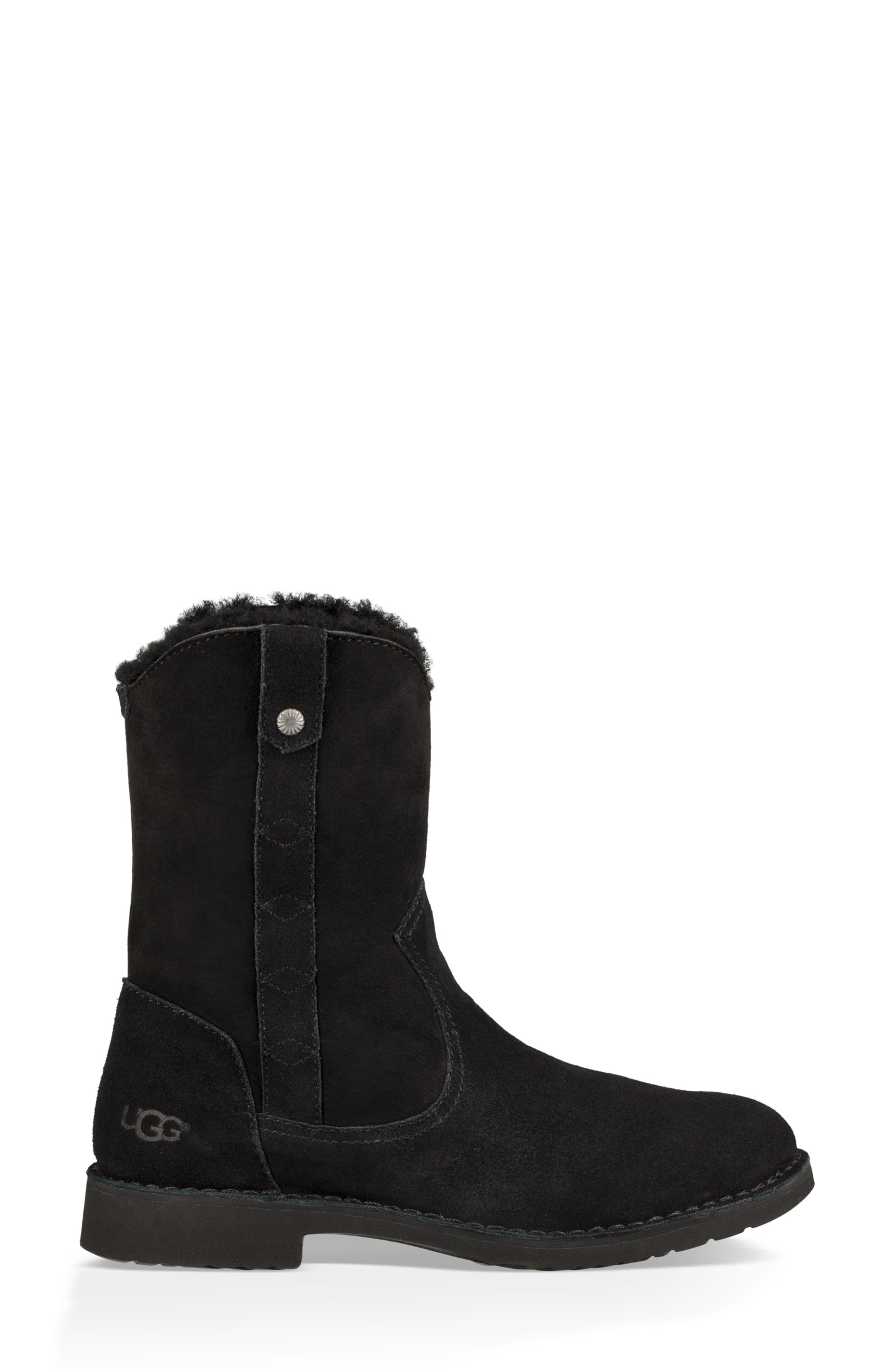 Larker Boot,                             Alternate thumbnail 3, color,                             BLACK SUEDE