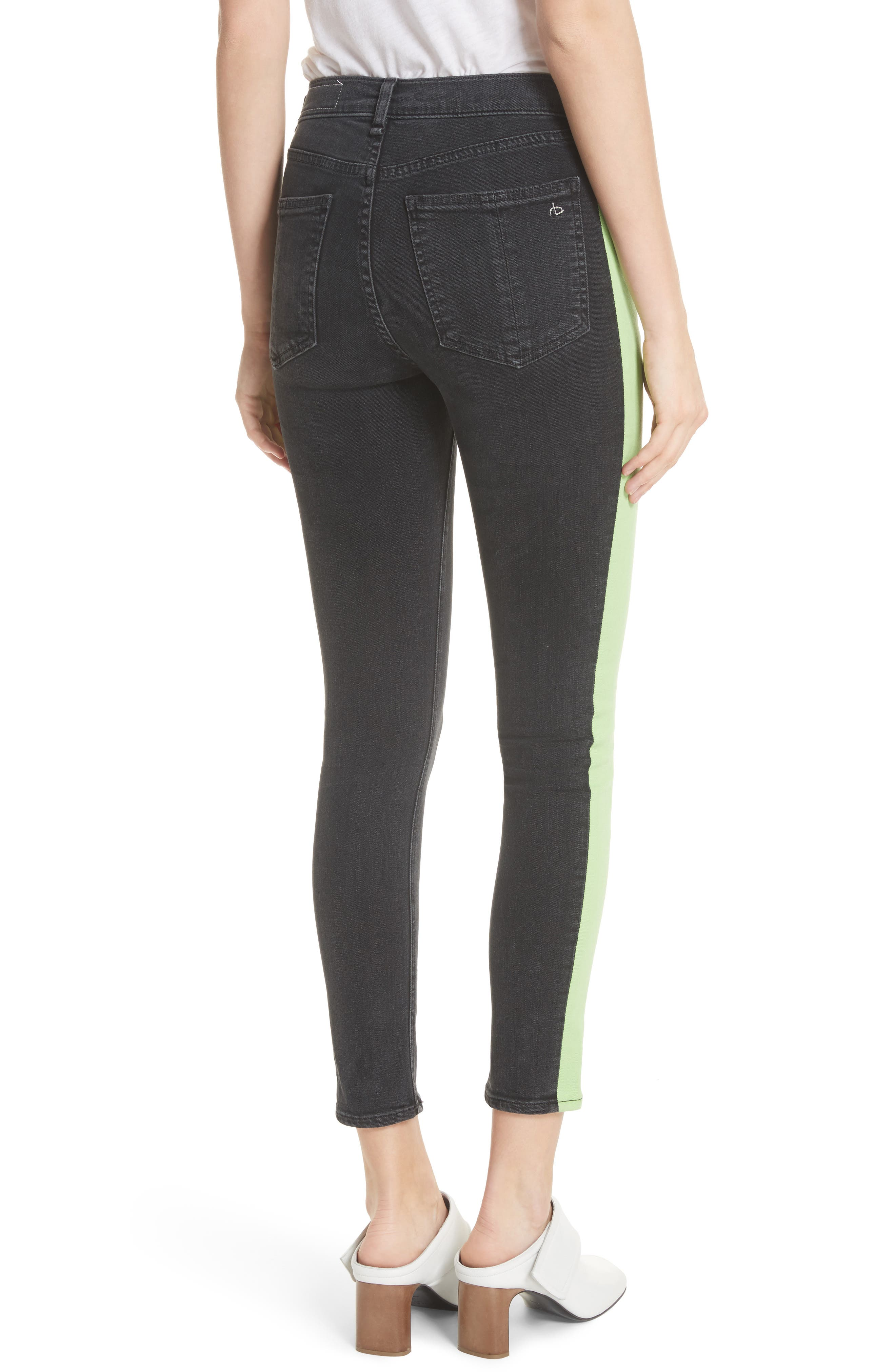 JEAN Mazie High Waist Skinny Jeans,                             Alternate thumbnail 2, color,                             001