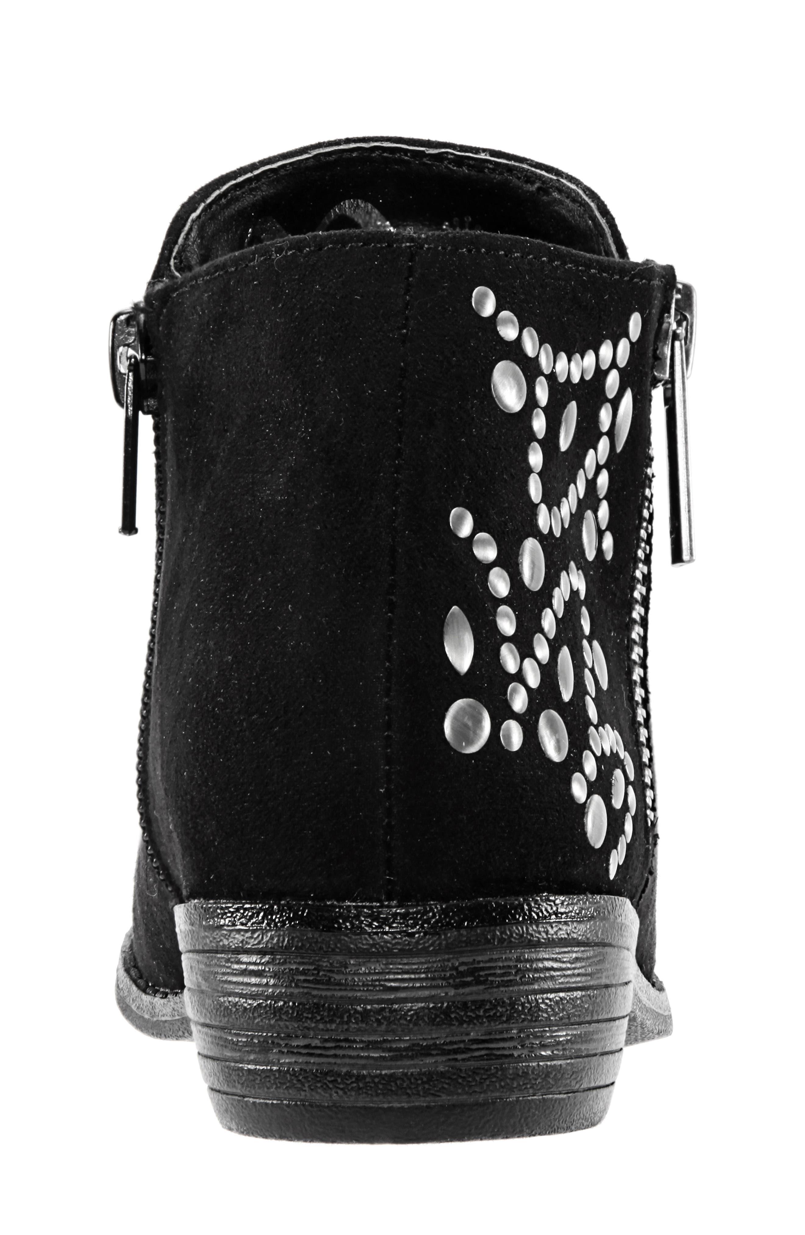 Destany Block Heel Bootie,                             Alternate thumbnail 7, color,                             BLACK MICRO SUEDE