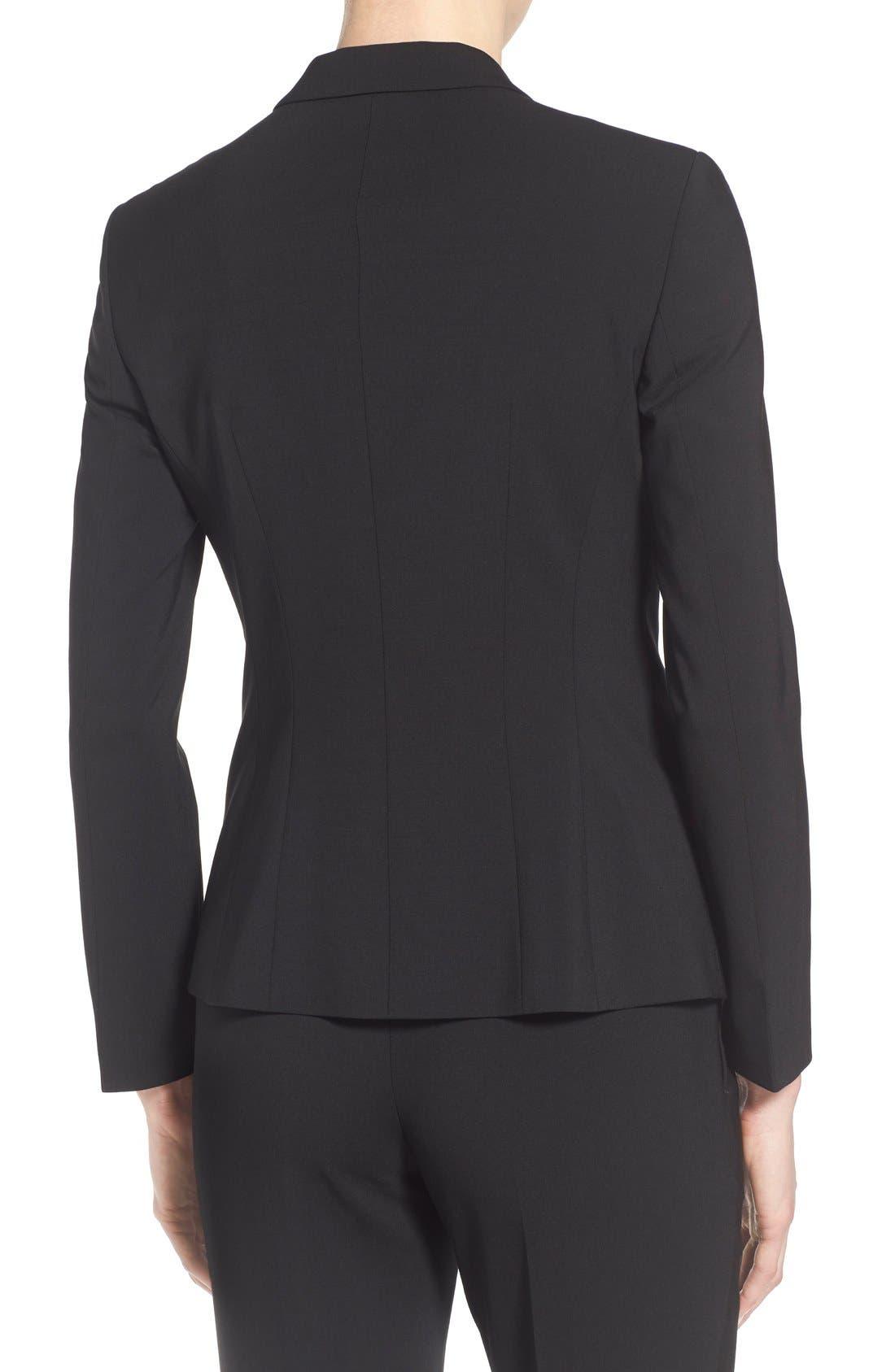 Julea Tropical Stretch Wool Jacket,                             Alternate thumbnail 7, color,                             BLACK