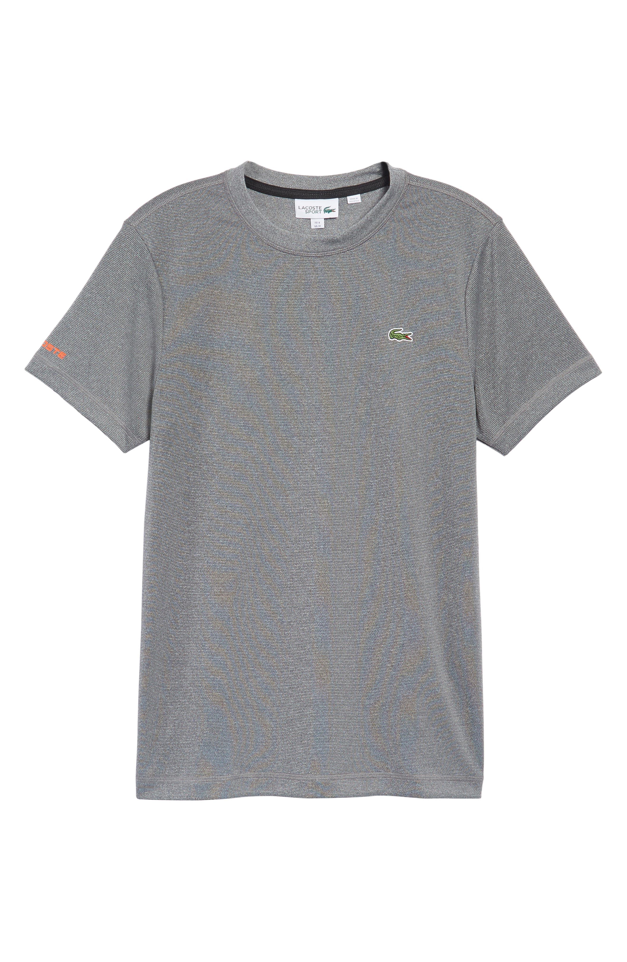 Pinstripe Grommet T-Shirt,                             Alternate thumbnail 6, color,                             020