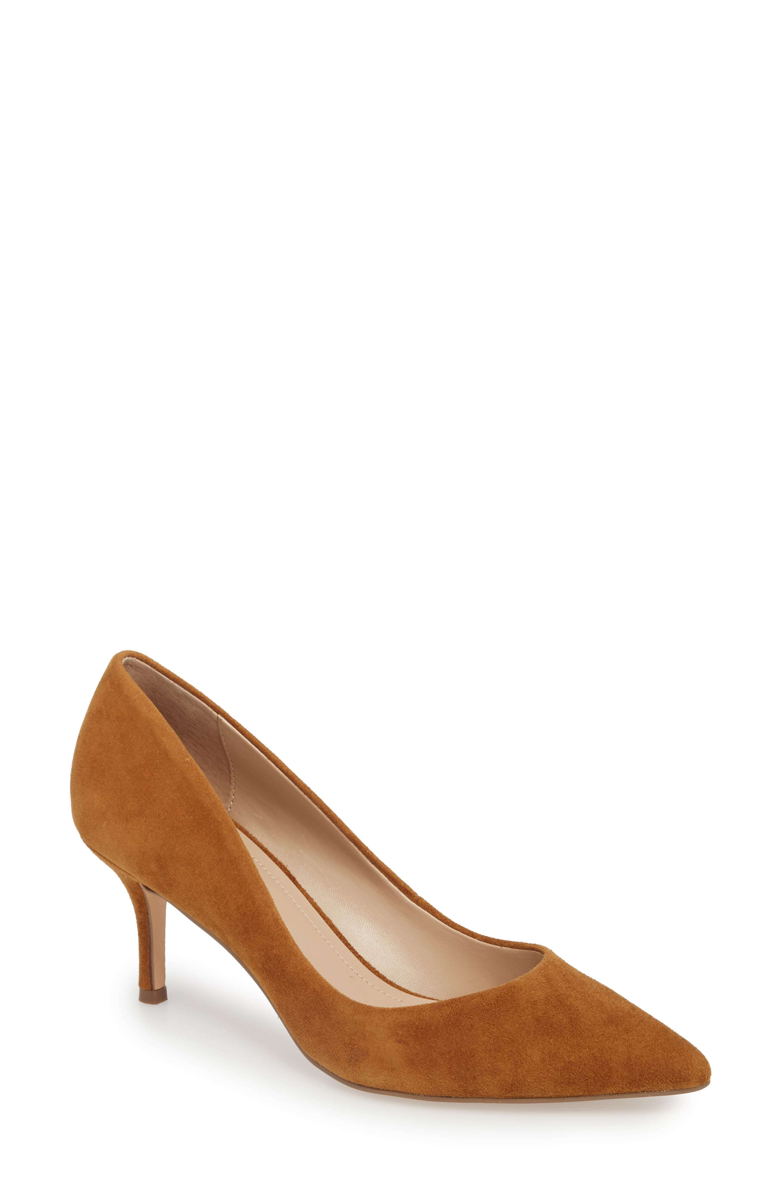 Addie Pump,                             Main thumbnail 1, color,                             AMBER SUEDE
