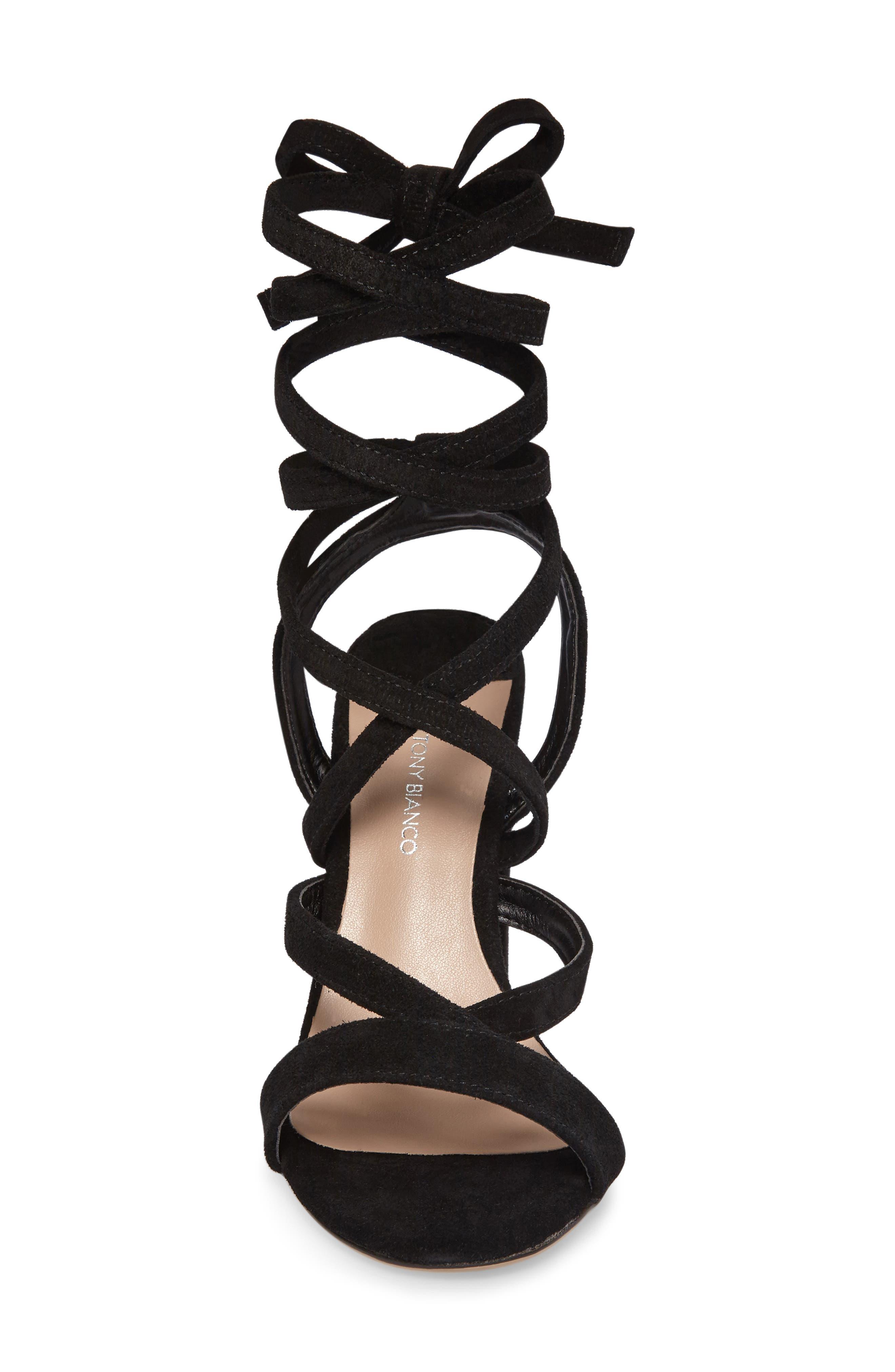 Kappa Ankle Wrap Sandal,                             Alternate thumbnail 3, color,                             001