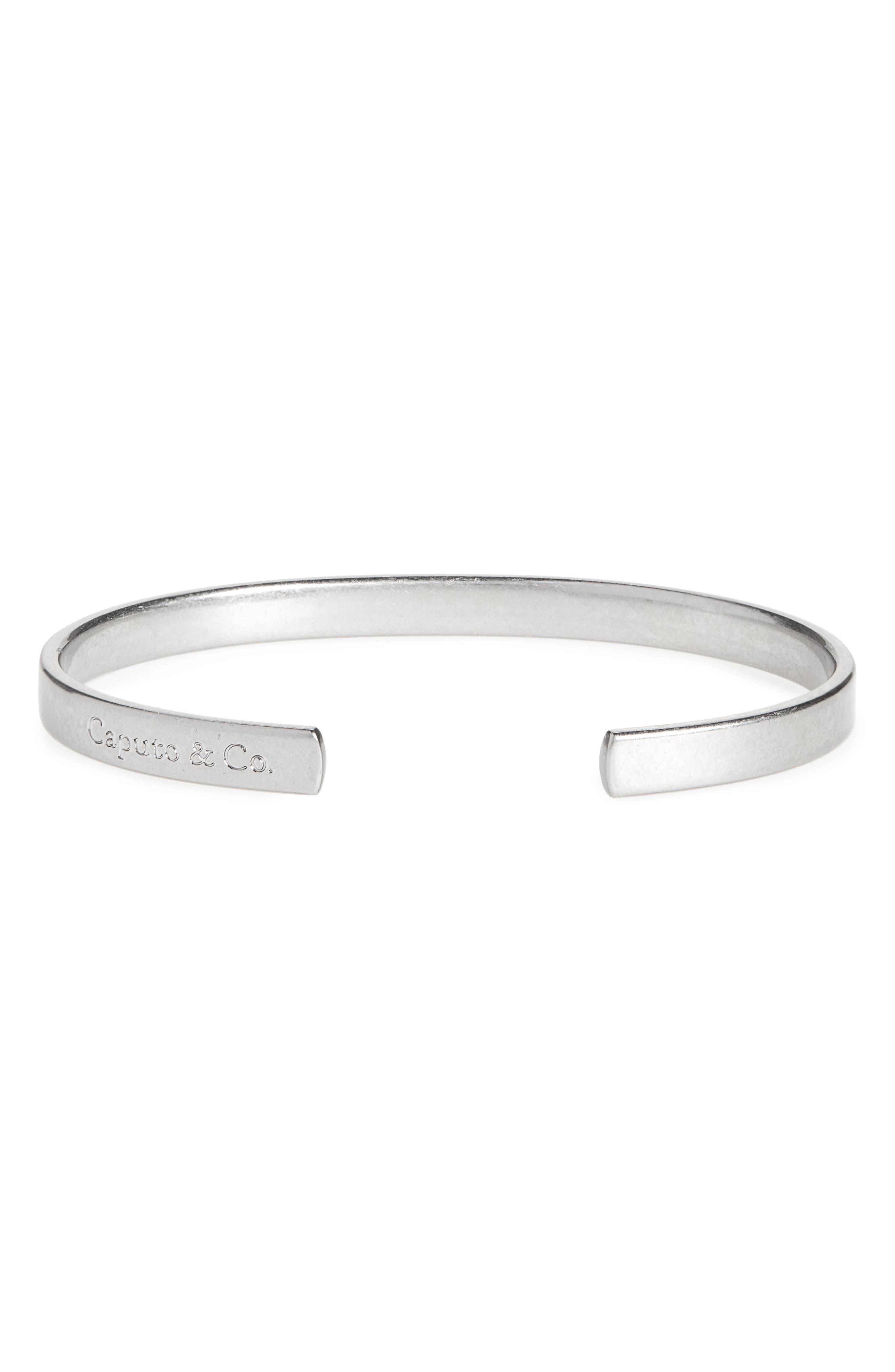 CAPUTO & CO. Clean Metal Cuff Bracelet in Brown