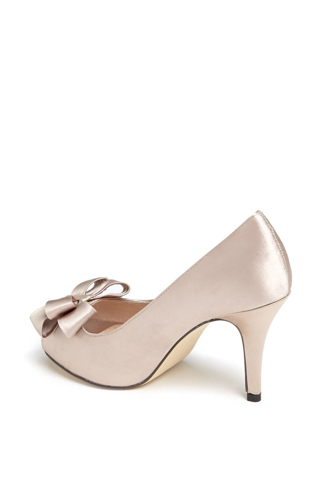Bow Peep Toe Pump,                             Alternate thumbnail 3, color,                             021