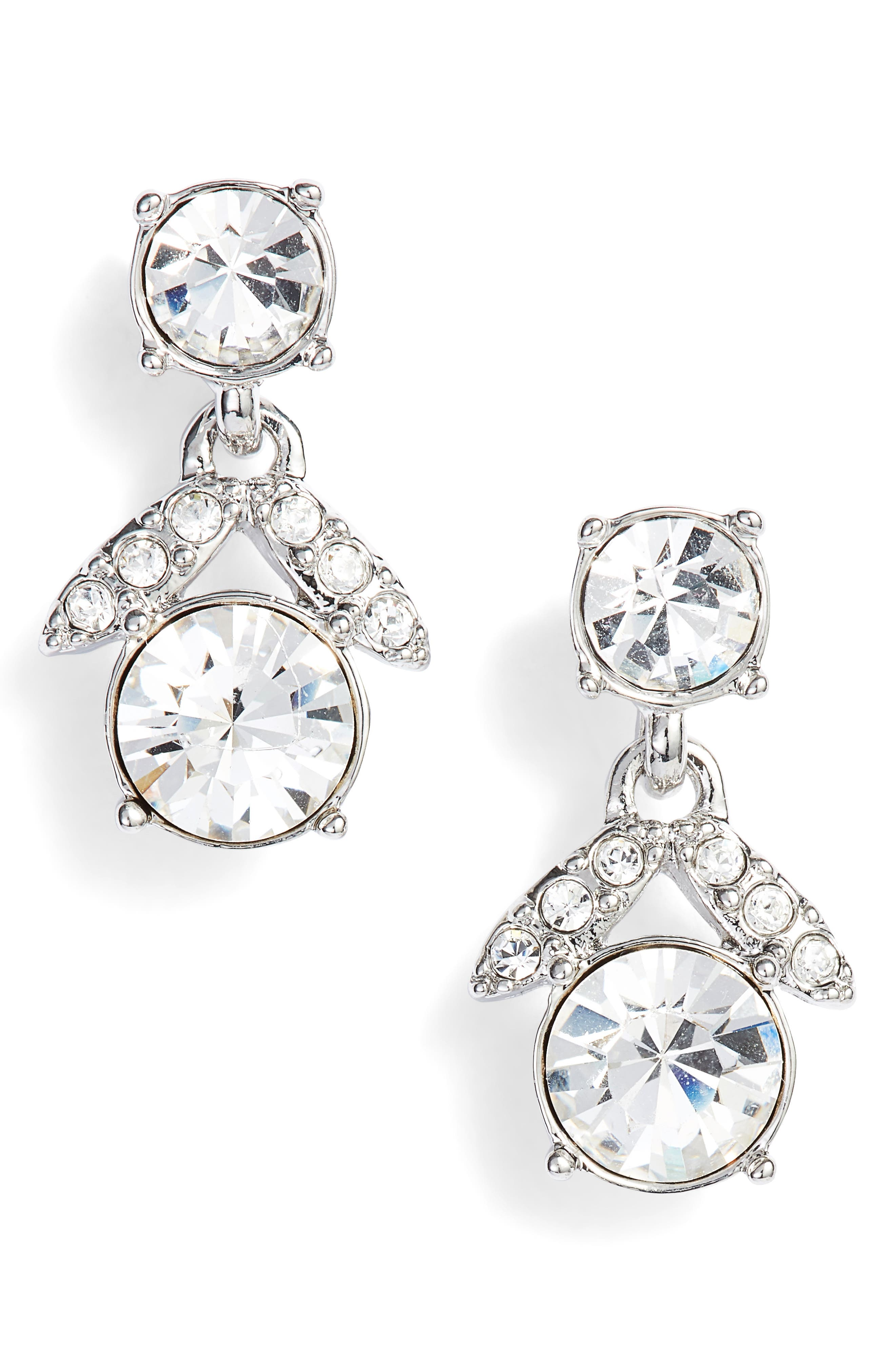 Crystal Drop Earrings,                         Main,                         color, 040