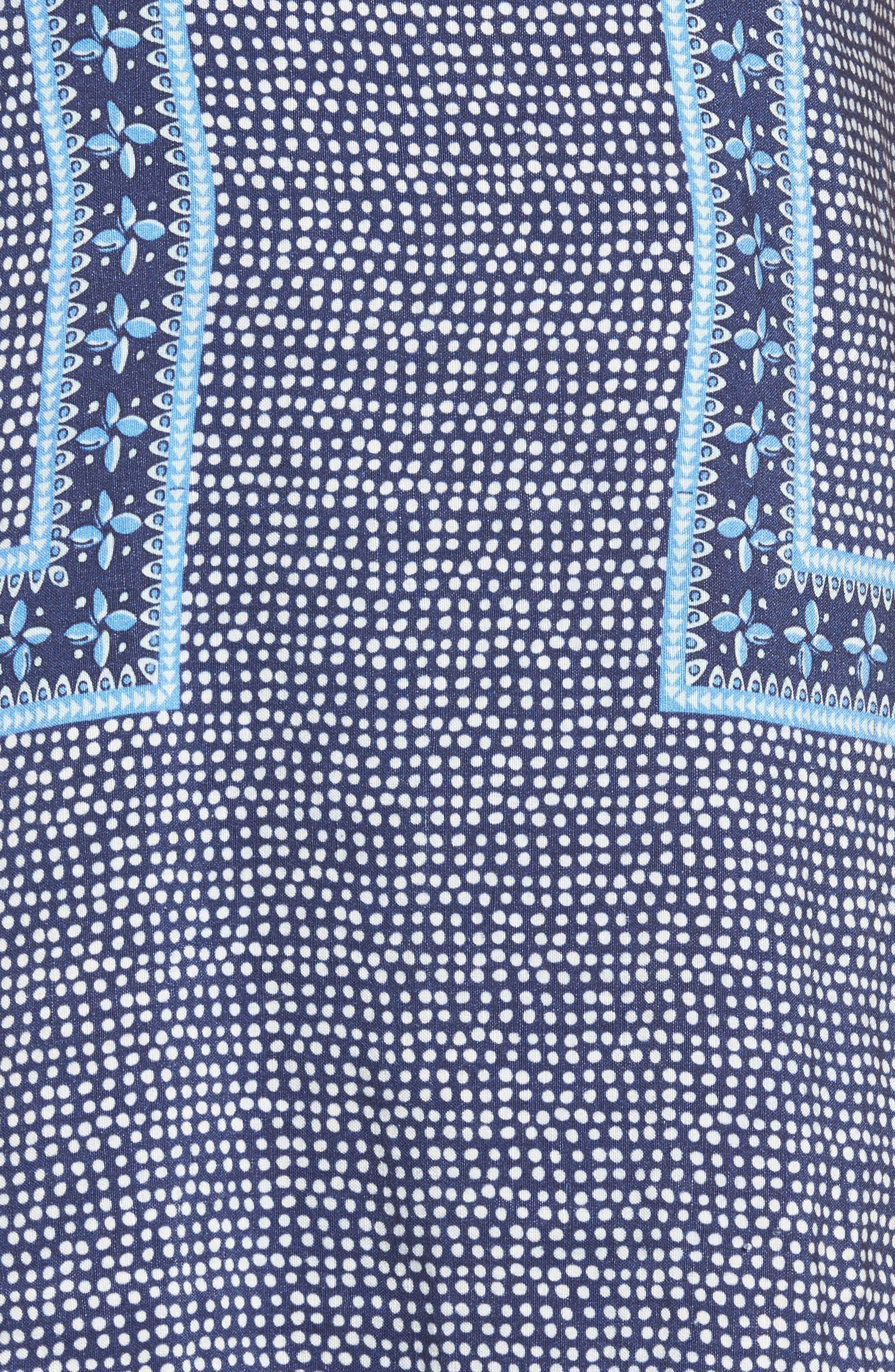 Dot Border Shift Dress,                             Alternate thumbnail 5, color,                             476