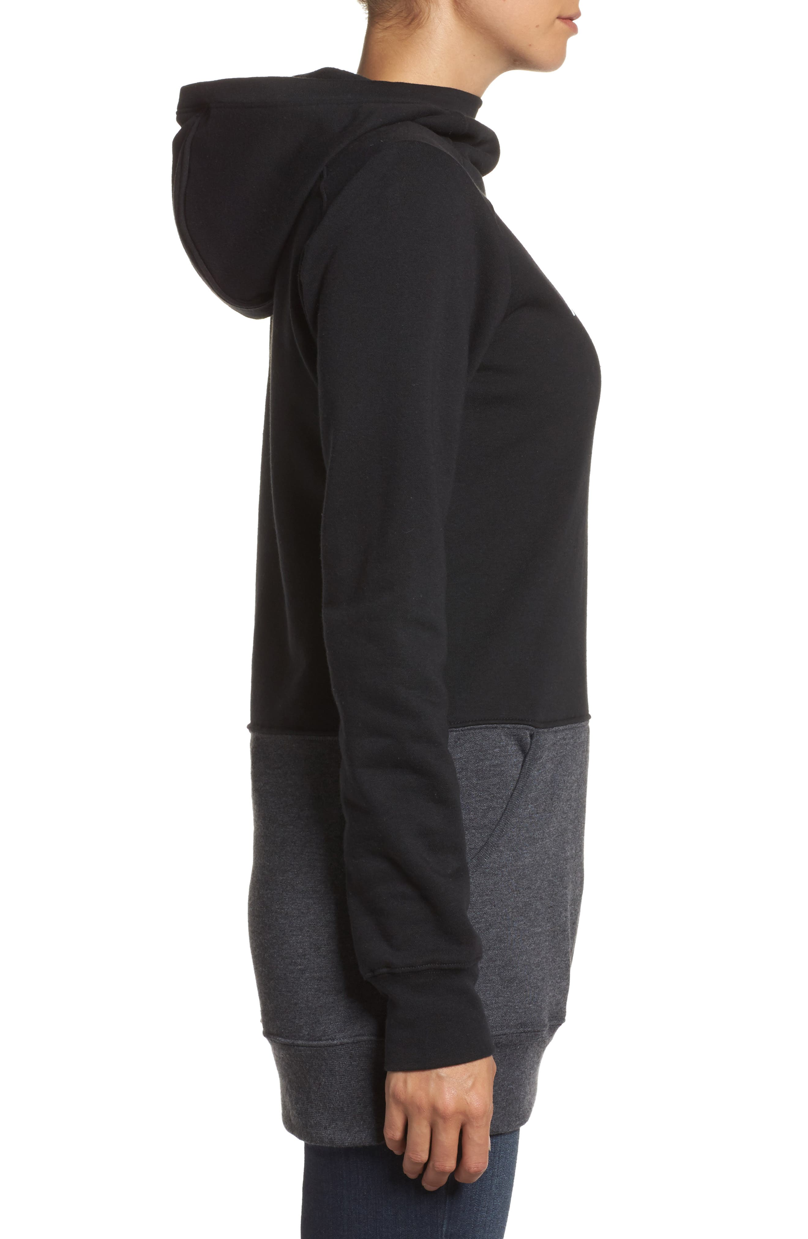Half Dome Extra Long Hoodie,                             Alternate thumbnail 3, color,                             001