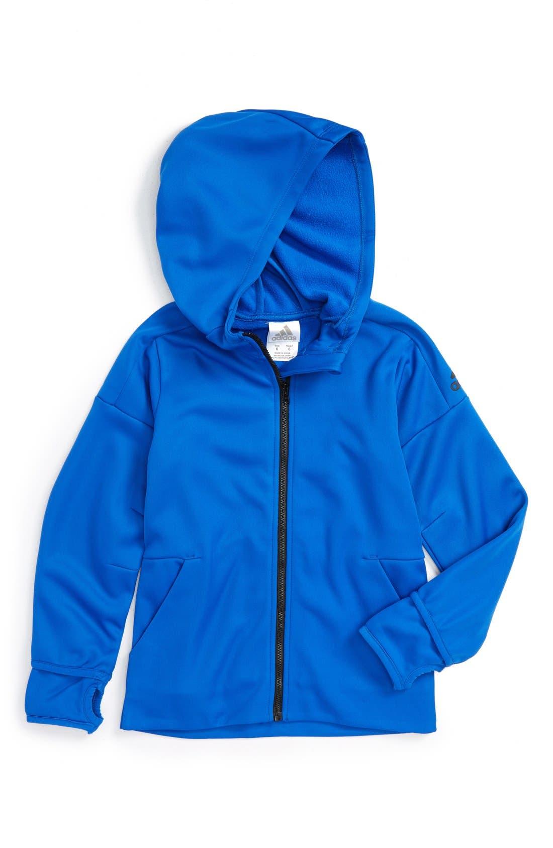 'Z.N.E.' Zip Fleece Hoodie, Main, color, 439