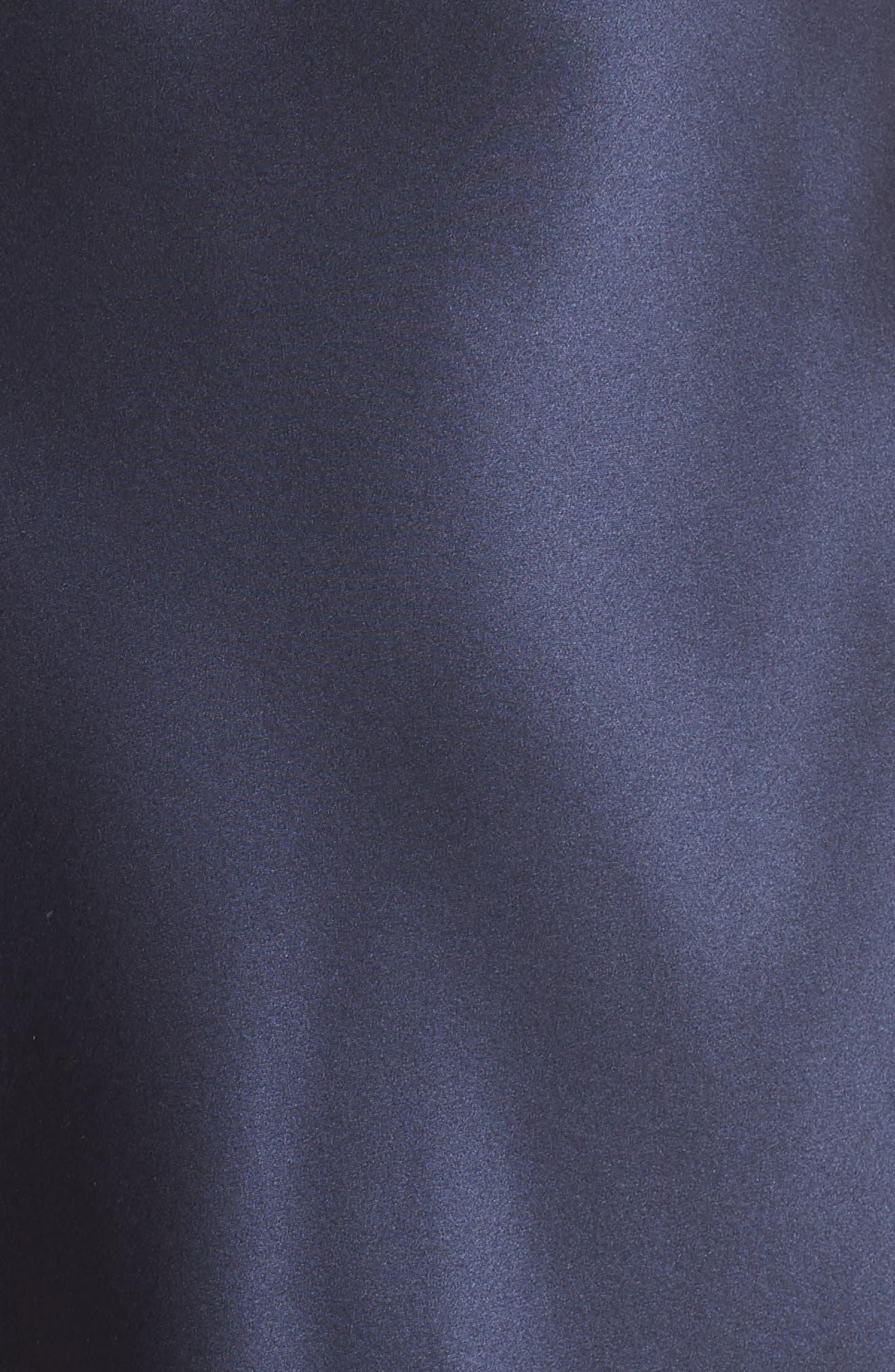 Lace Trim Silk Chemise,                             Alternate thumbnail 5, color,