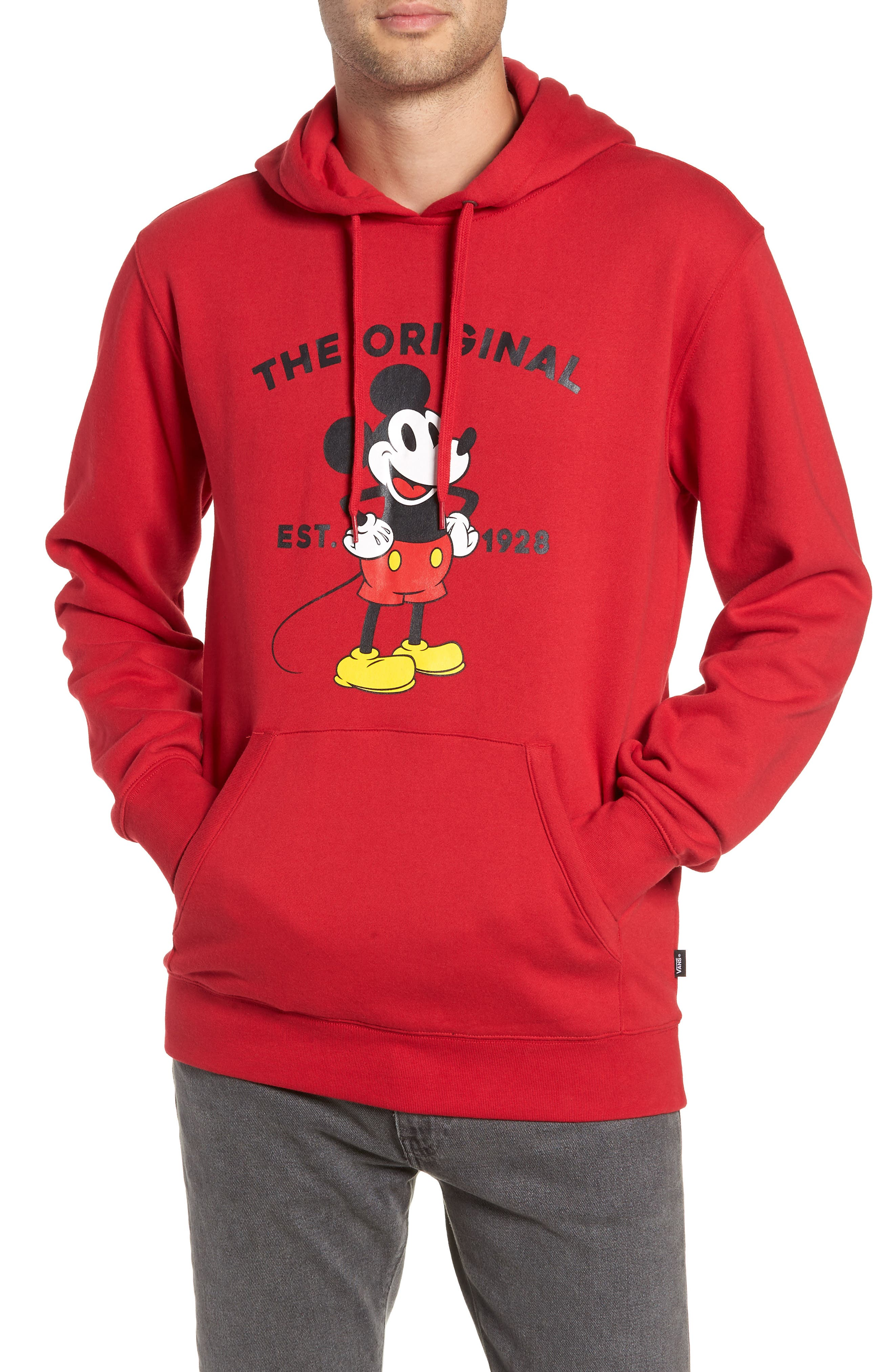 x Disney Mickey's 90th Anniversary Hoodie,                             Main thumbnail 1, color,                             601