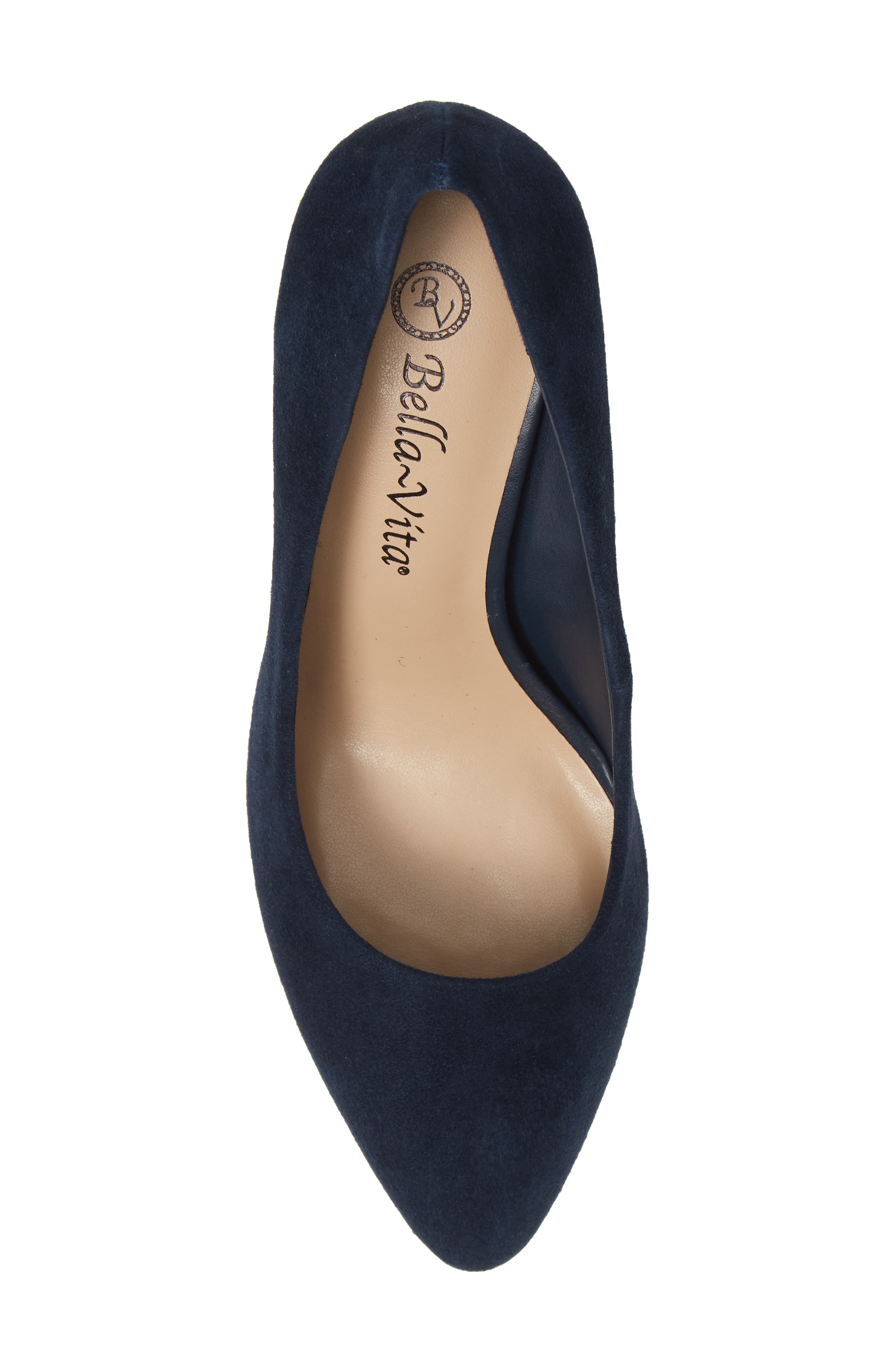 Gigi Pump,                             Alternate thumbnail 5, color,                             NAVY SUEDE
