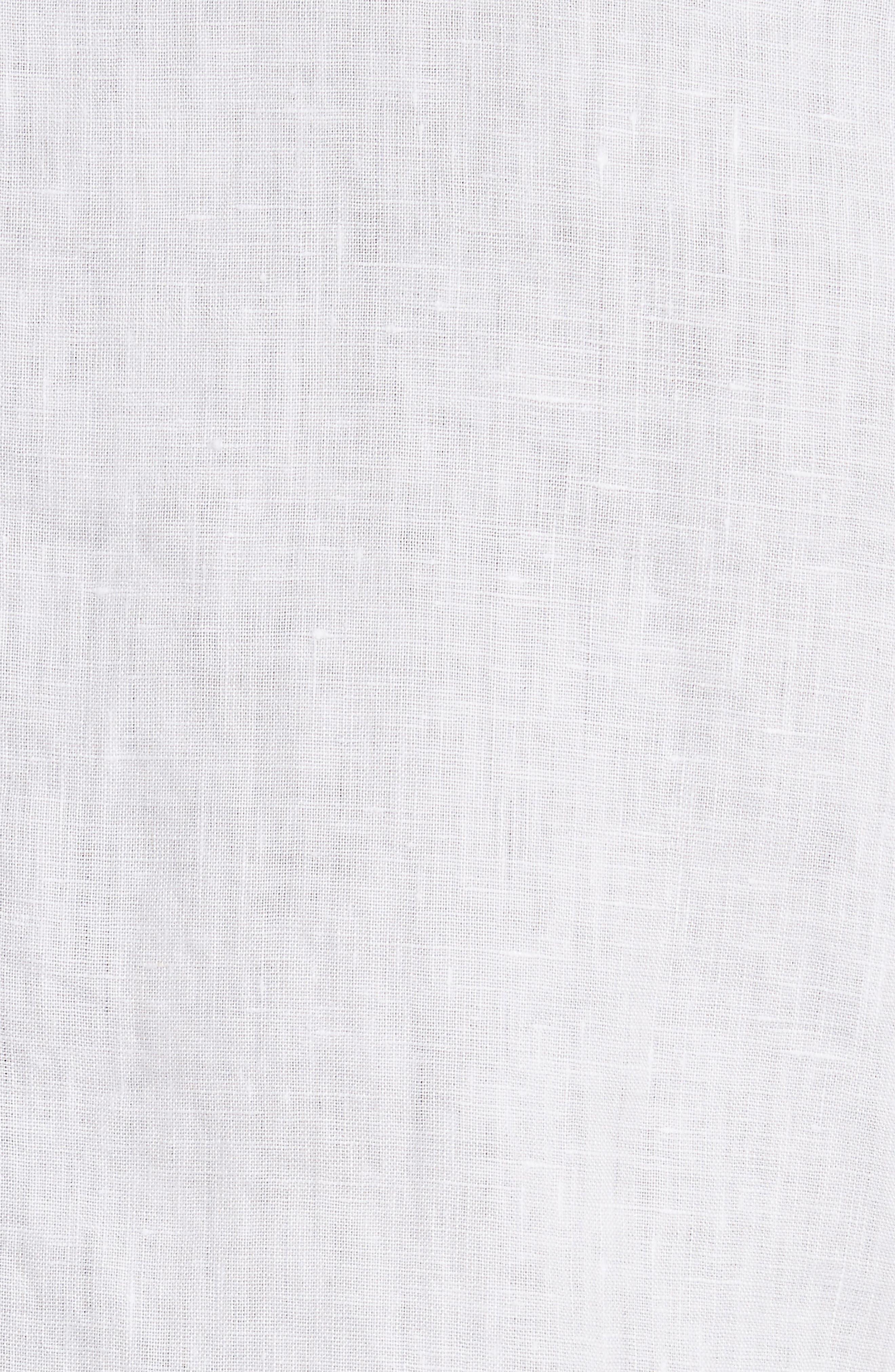Abe Linen Shirt,                             Alternate thumbnail 6, color,                             WHITE