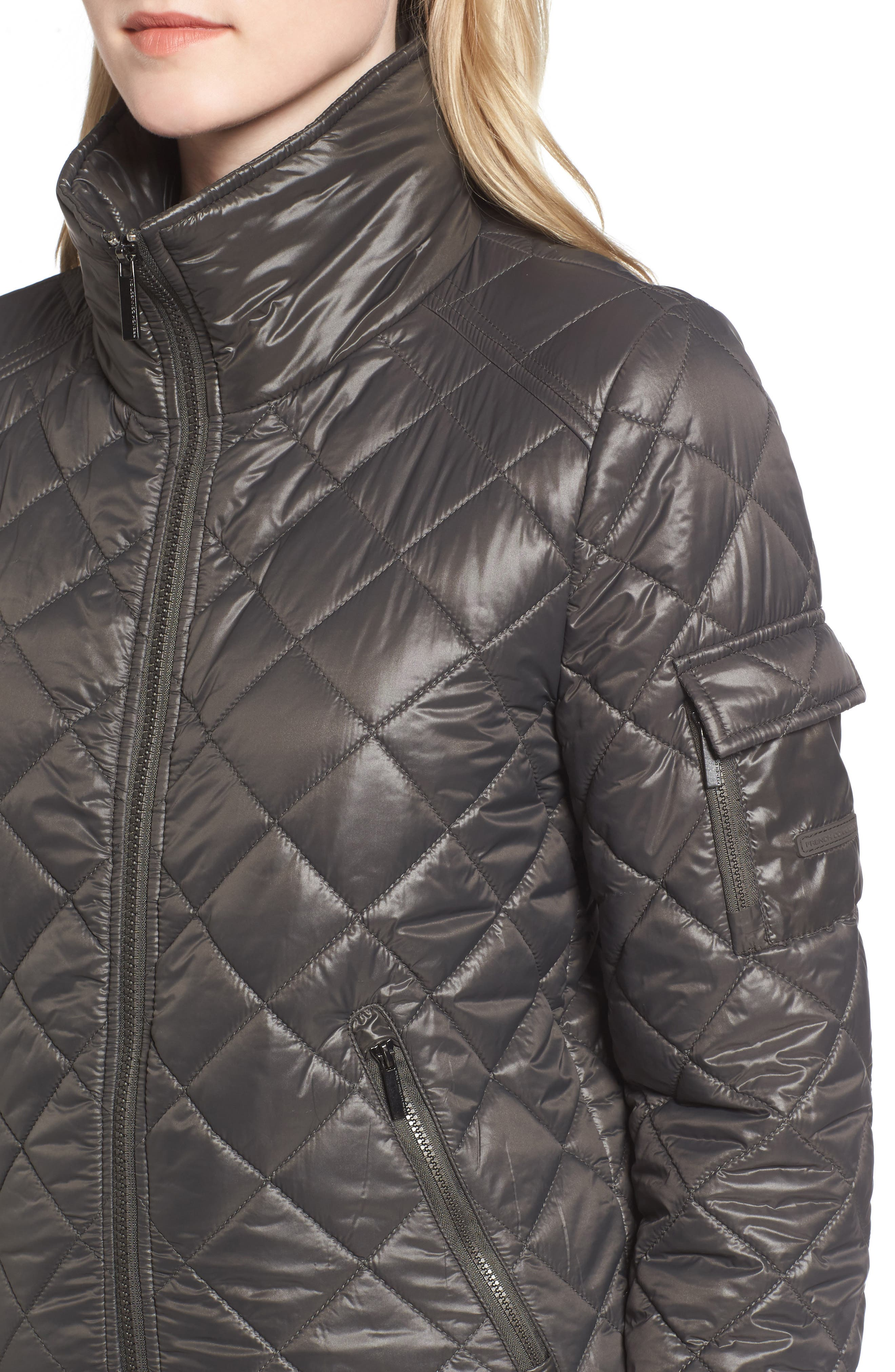 Quilted Bomber Jacket,                             Alternate thumbnail 4, color,                             038