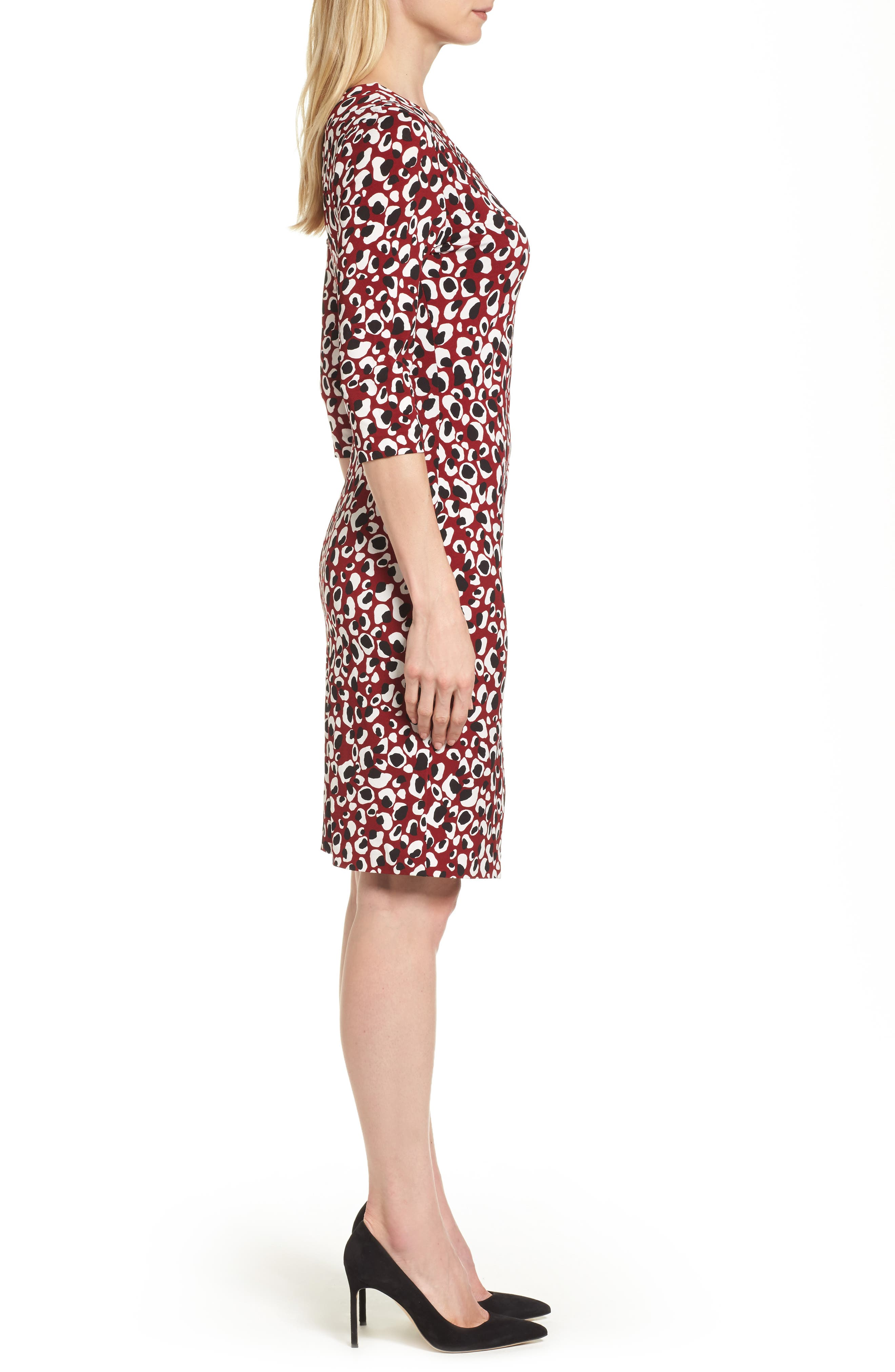 Epona Print Crepe Sheath Dress,                             Alternate thumbnail 3, color,                             603