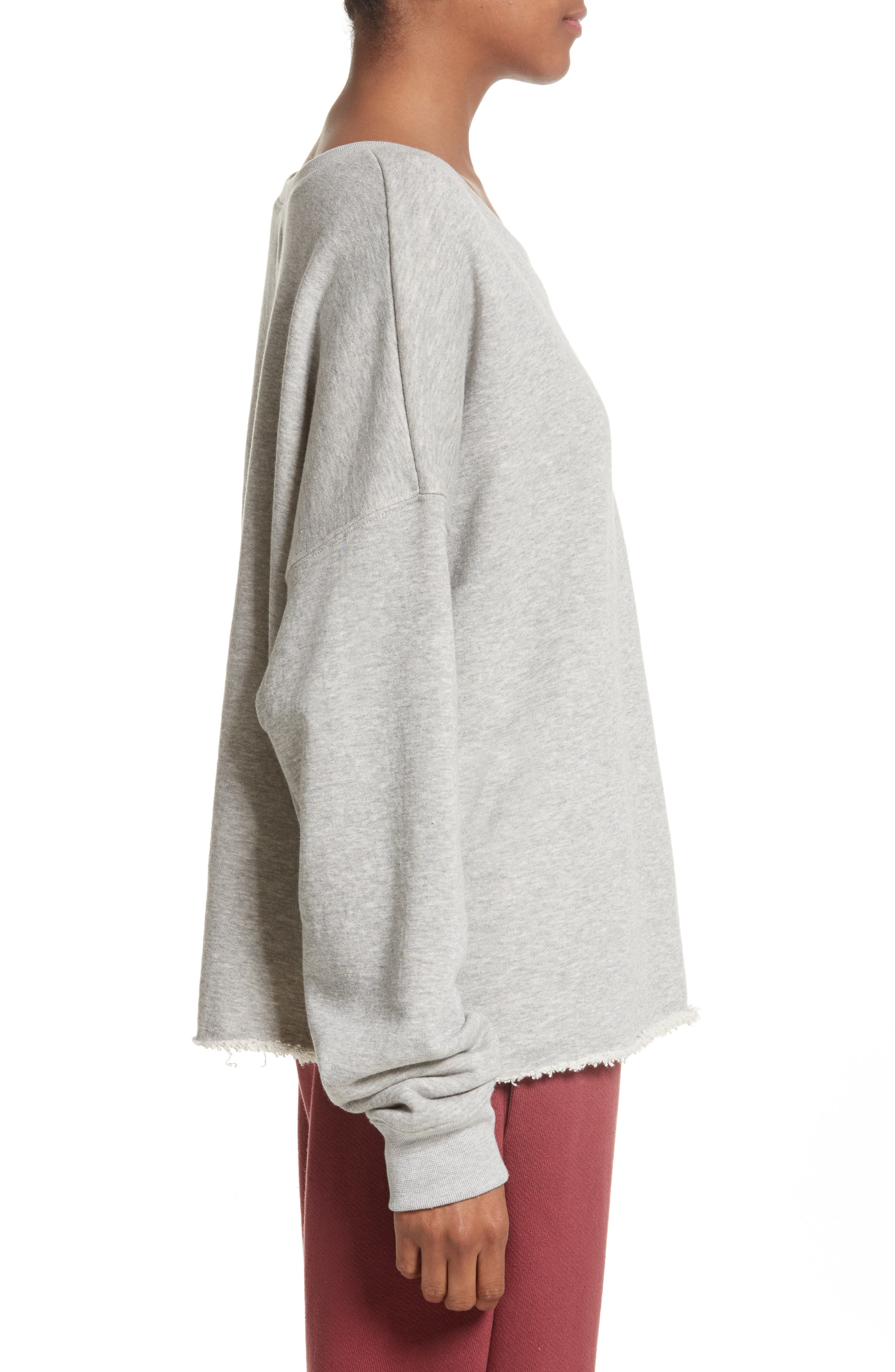 Brushed Terry Sweatshirt,                             Alternate thumbnail 3, color,                             020