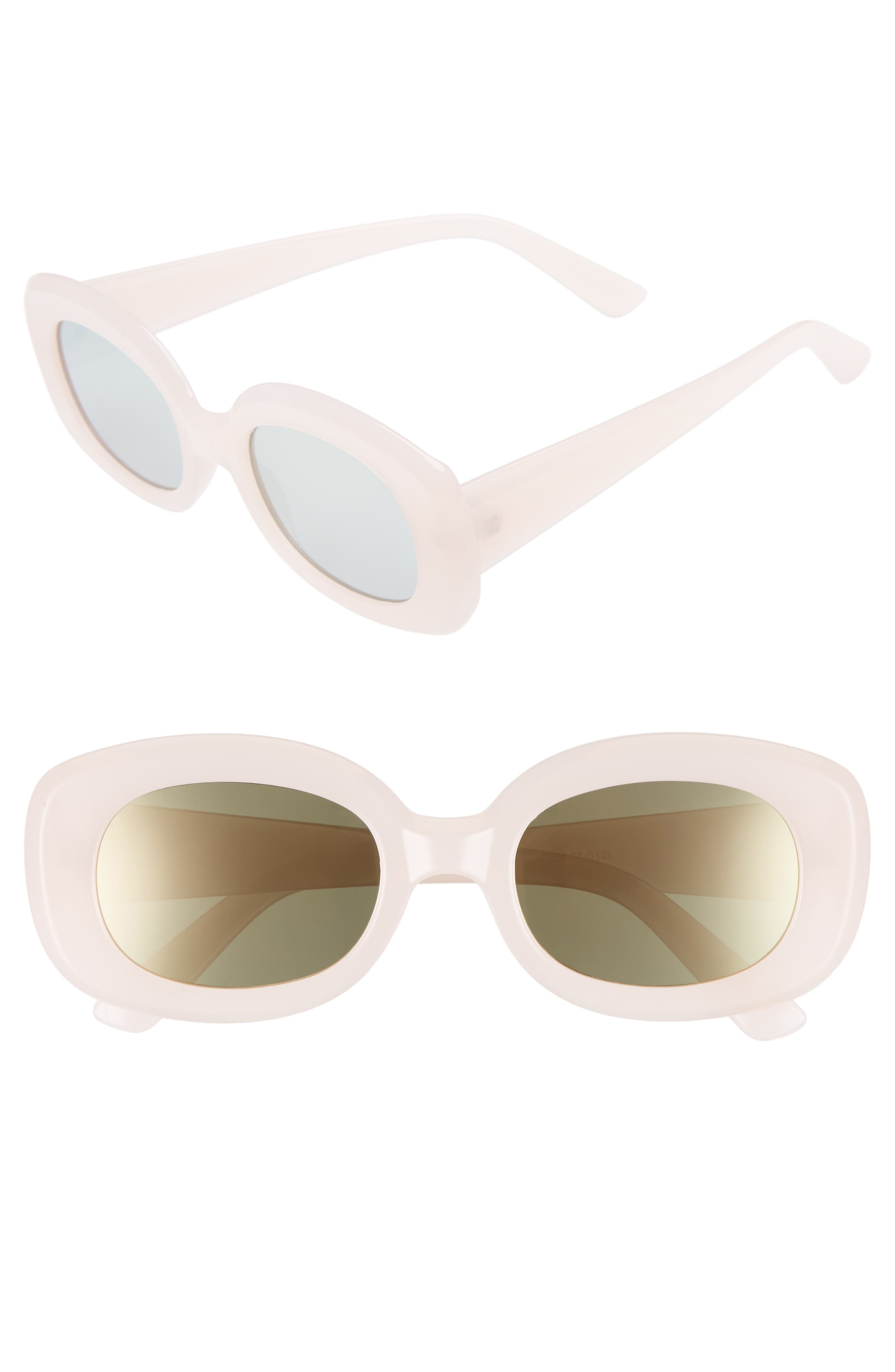 48mm Small Square Sunglasses,                             Main thumbnail 1, color,                             PINK