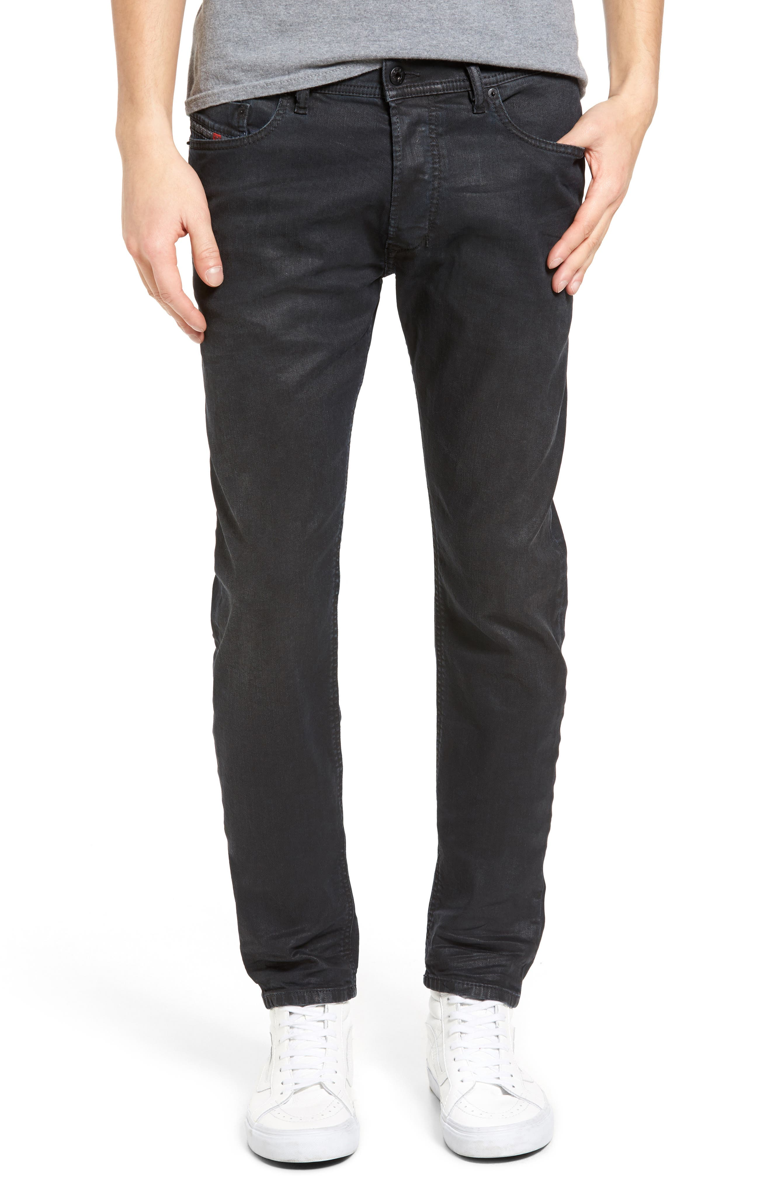 Tepphar Skinny Fit Jeans,                             Main thumbnail 1, color,                             001