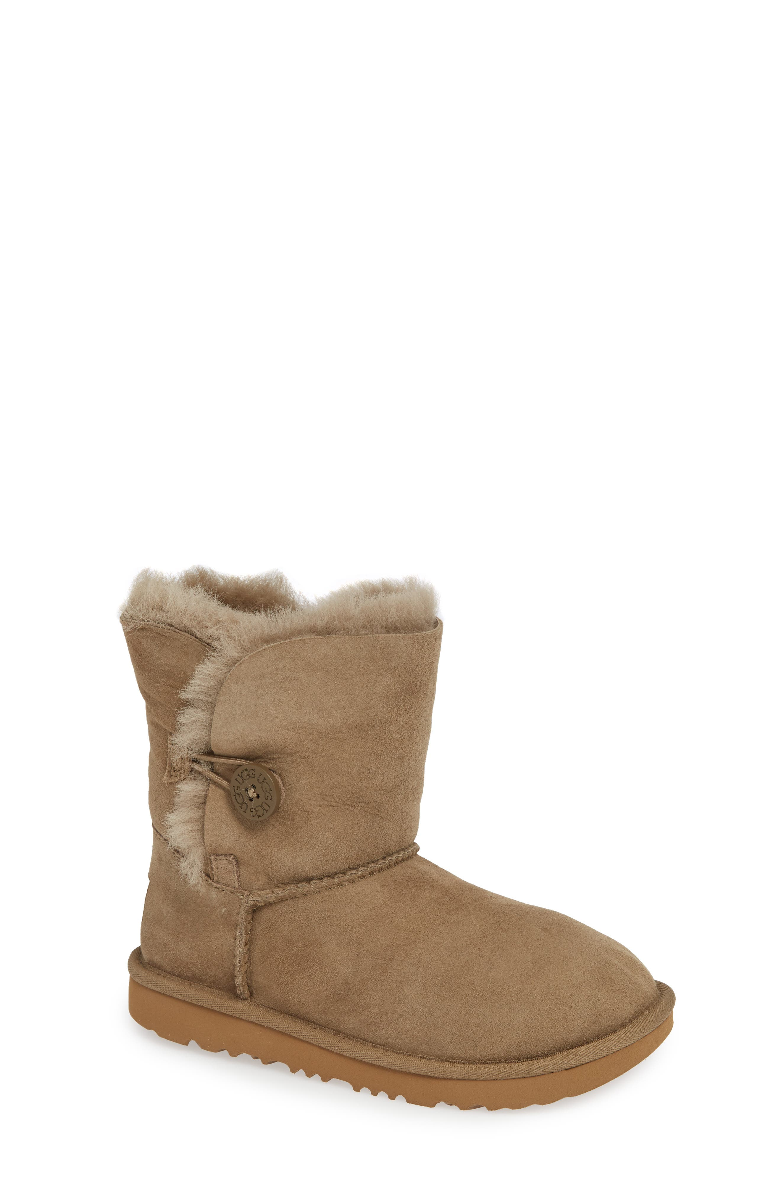 Bailey Button II Water Resistant Genuine Shearling Boot,                             Main thumbnail 1, color,                             ANTELOPE