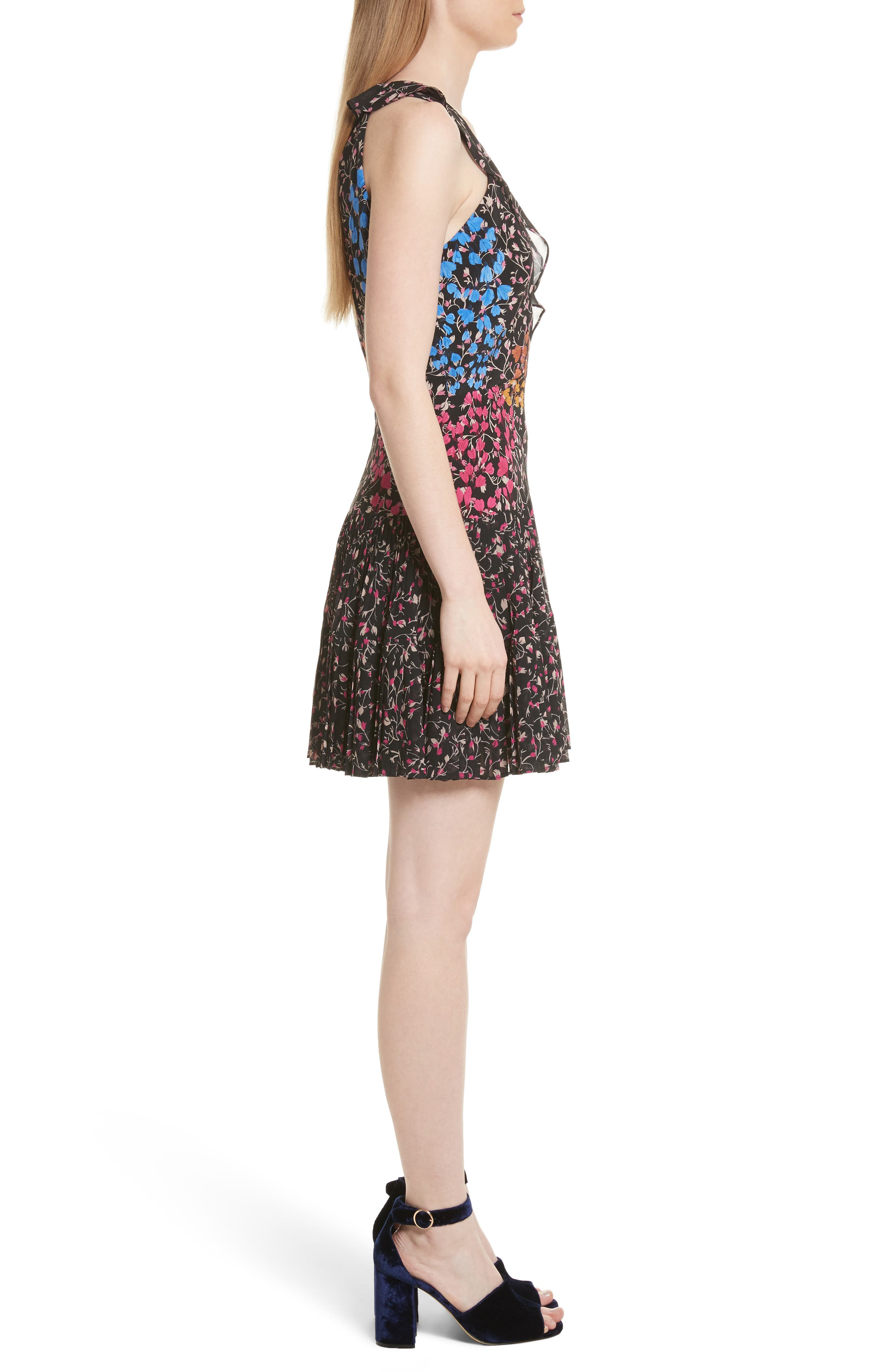 Amy Fit & Flare Dress,                             Alternate thumbnail 3, color,                             005