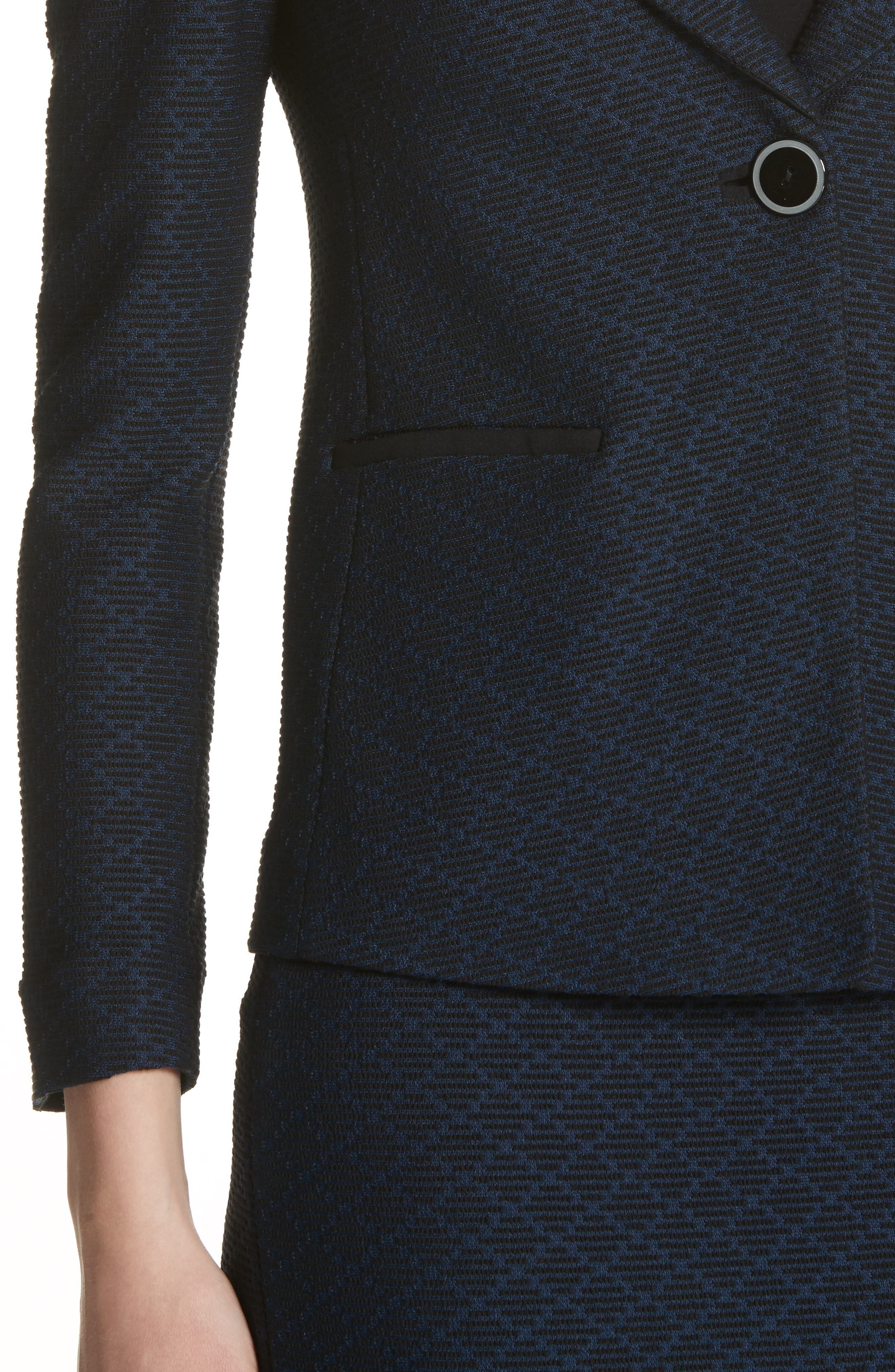 Diamond Jacquard Blazer,                             Alternate thumbnail 4, color,                             400