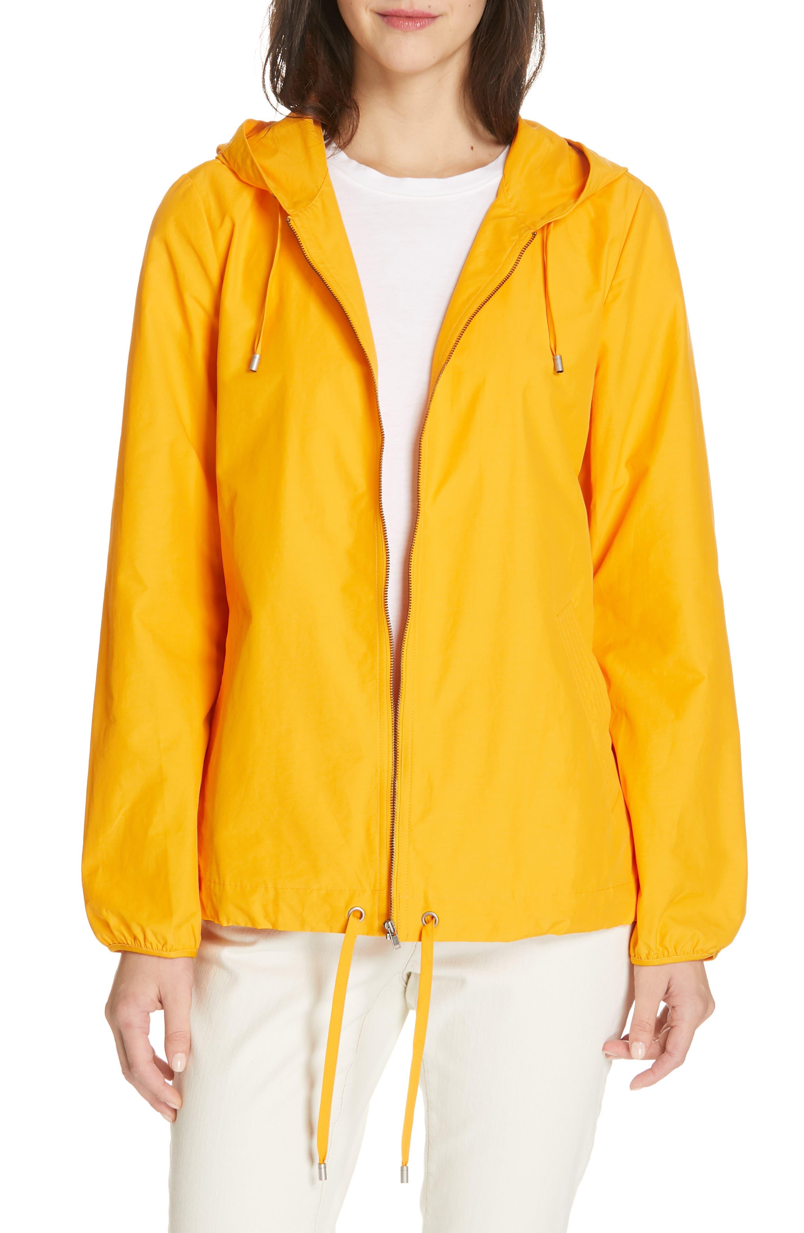women's eileen fisher hooded zip jacket, size xx-small - yellow