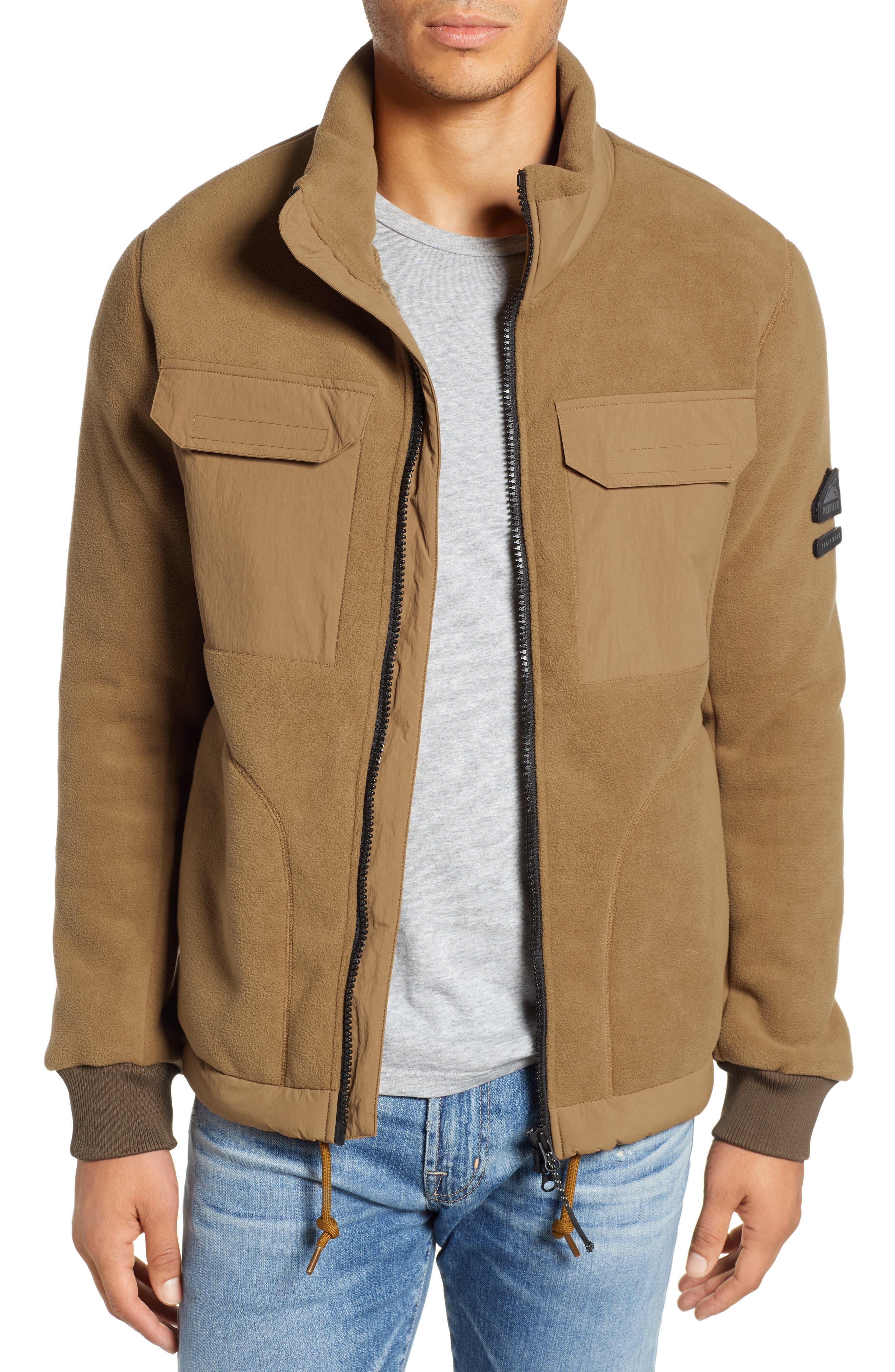 PENFIELD Schoening Zip Fleece Jacket in Breen