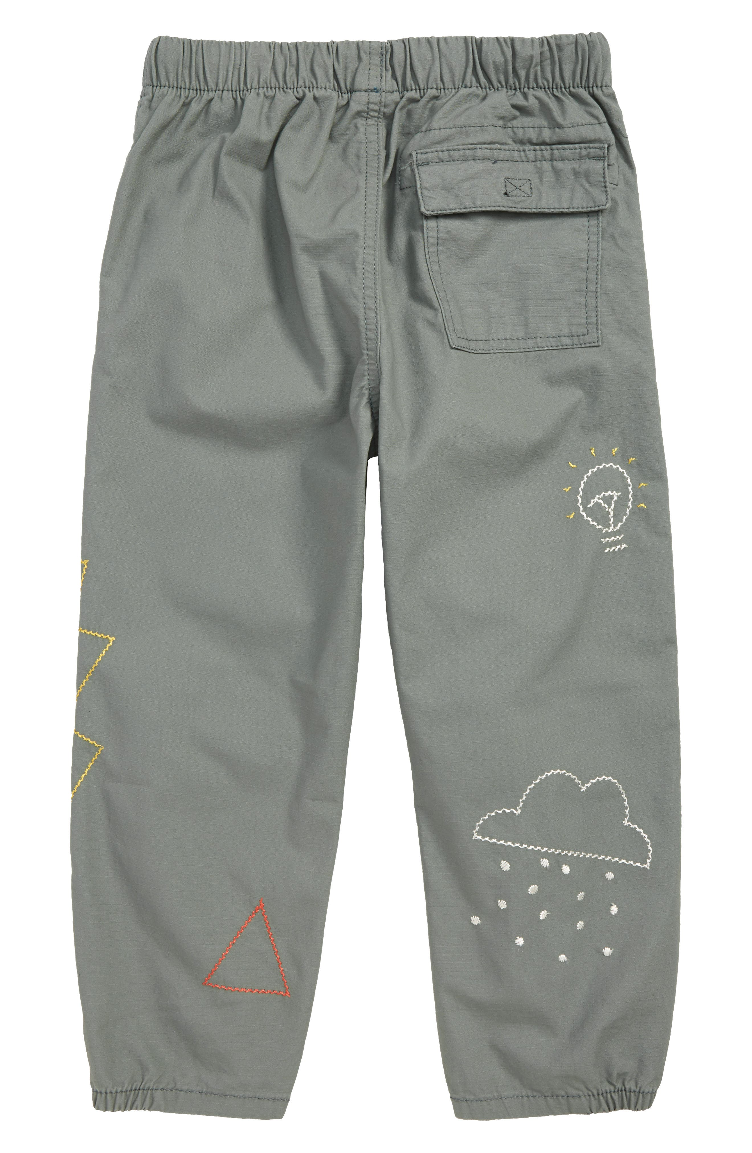 Embroidered Dart Pants,                             Alternate thumbnail 2, color,                             GREEN AGAVE DOODLES