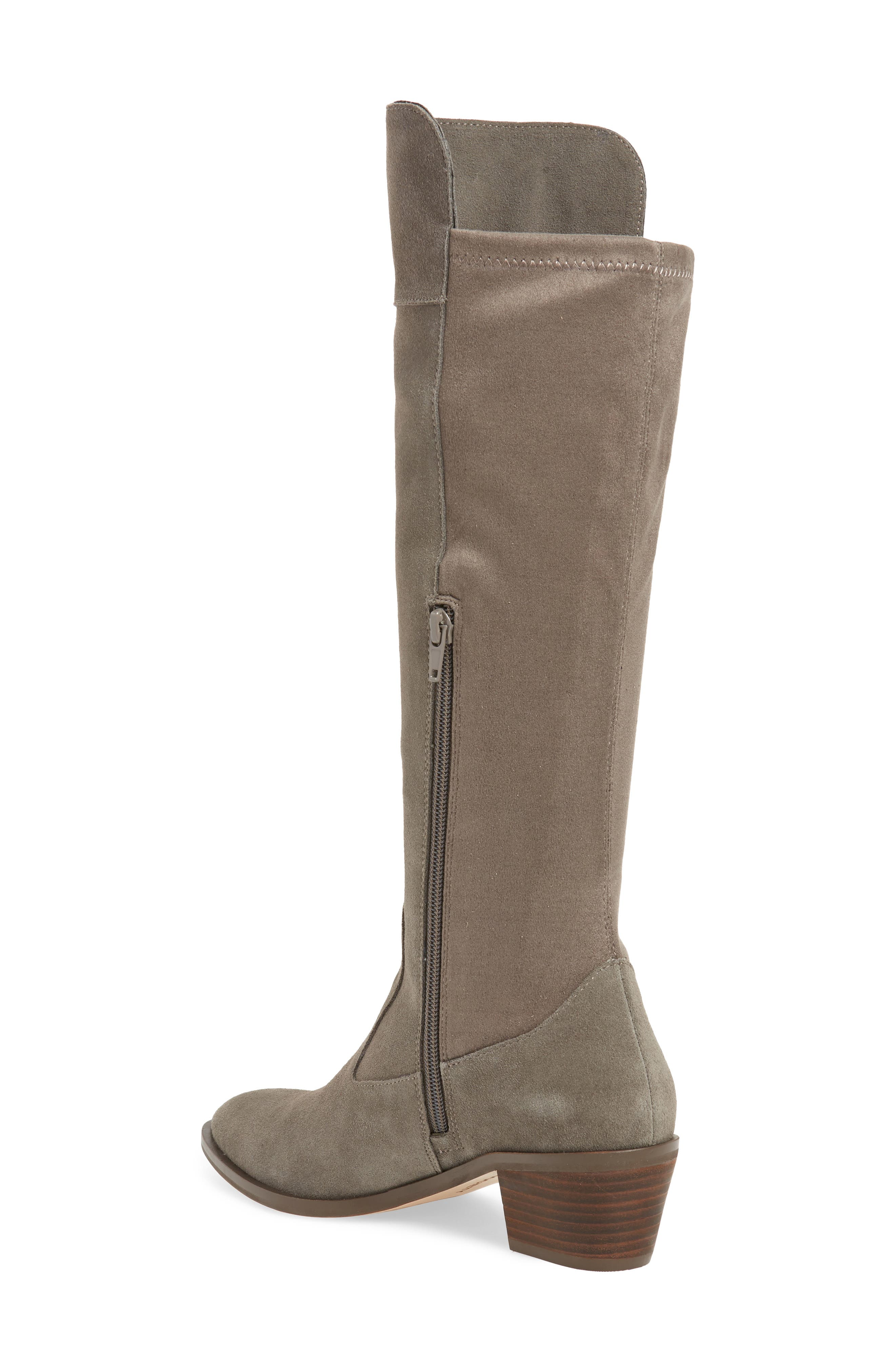 SOLE SOCIETY,                             Noamie Knee High Boot,                             Alternate thumbnail 2, color,                             LONDON RAIN SUEDE