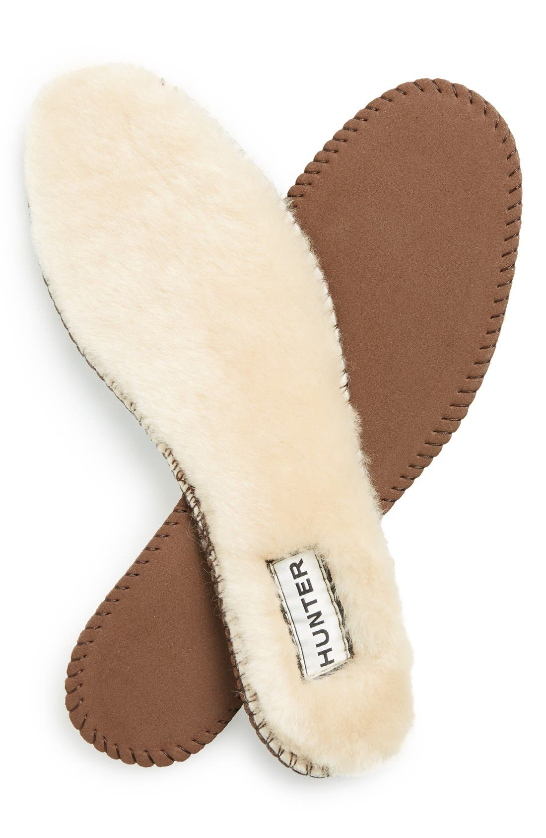 Genuine Shearling Insoles,                         Main,                         color, NATURAL