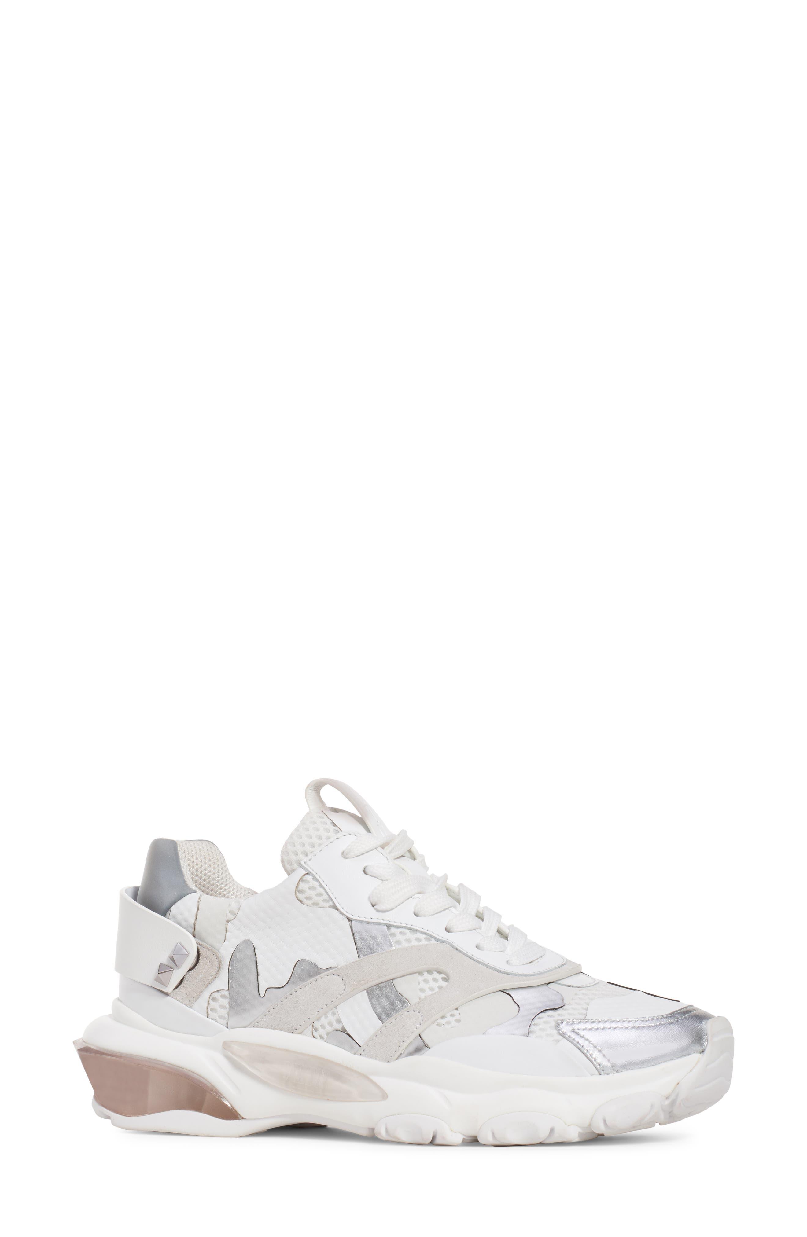 Camo Sneaker,                             Main thumbnail 1, color,                             WHITE