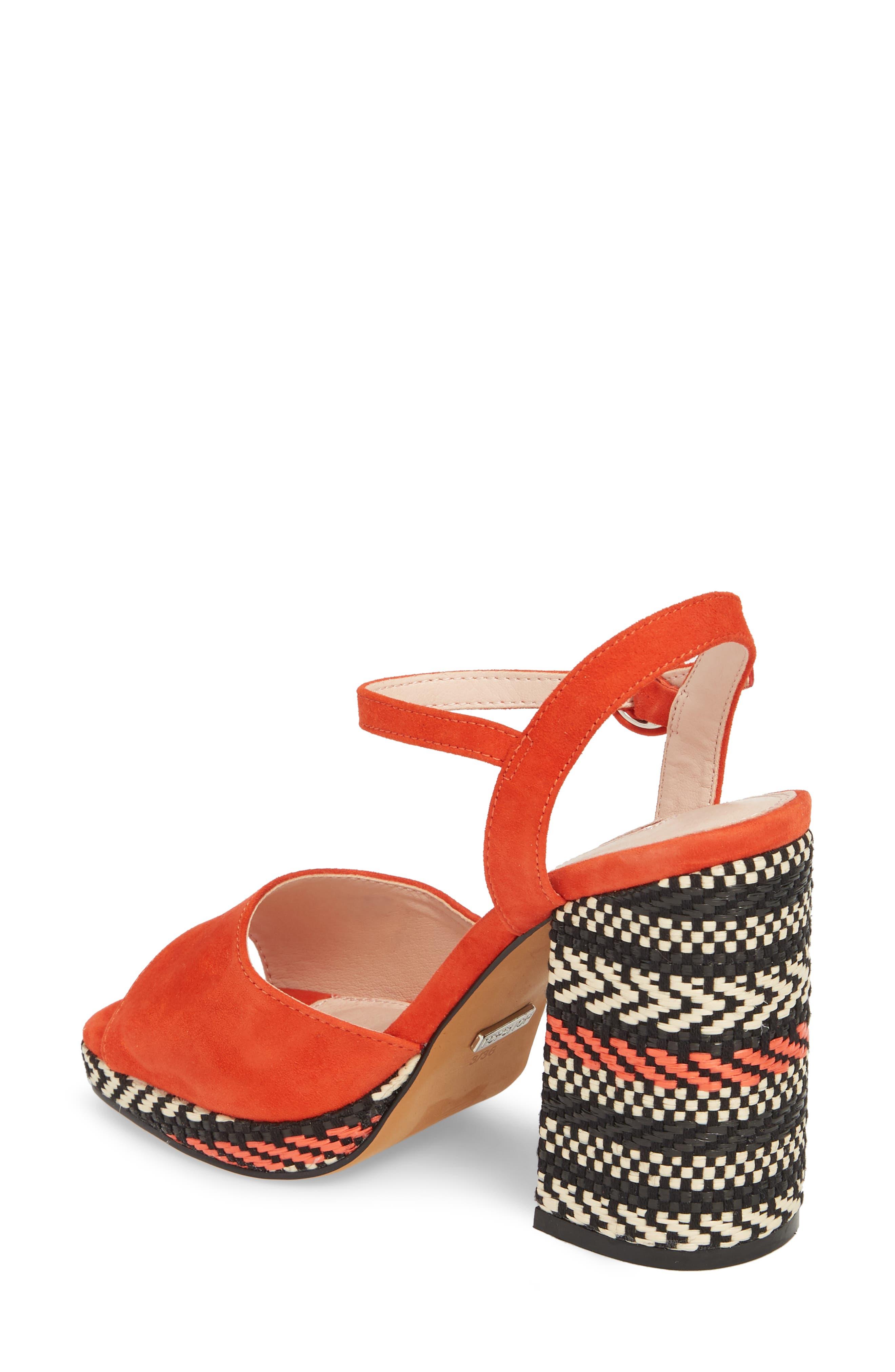 Laura Woven Block Heel Sandal,                             Alternate thumbnail 4, color,