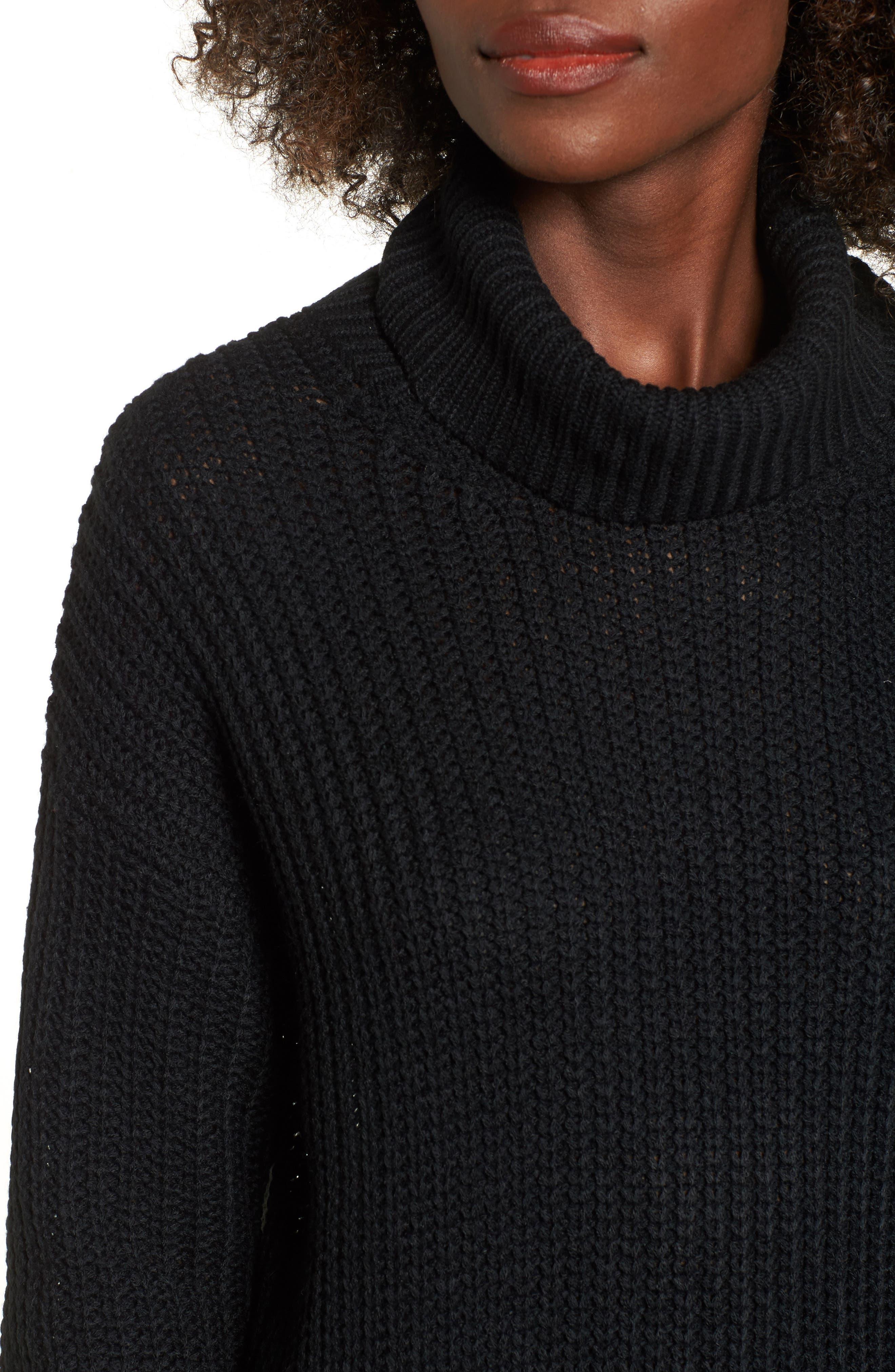 Sonya Open Back Sweater,                             Alternate thumbnail 4, color,                             001