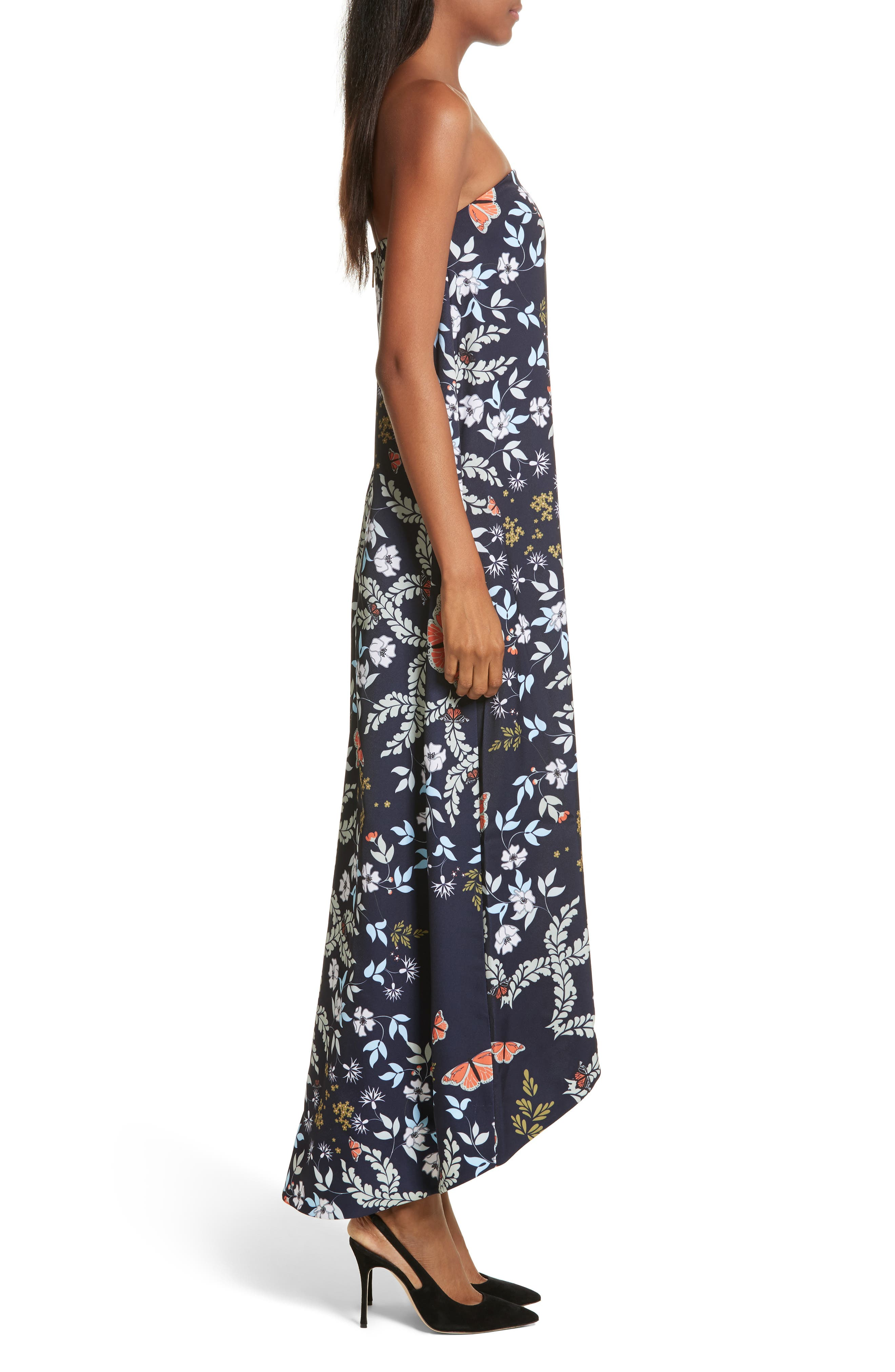Megadon Kyoto Strapless Maxi Dress,                             Alternate thumbnail 3, color,                             424