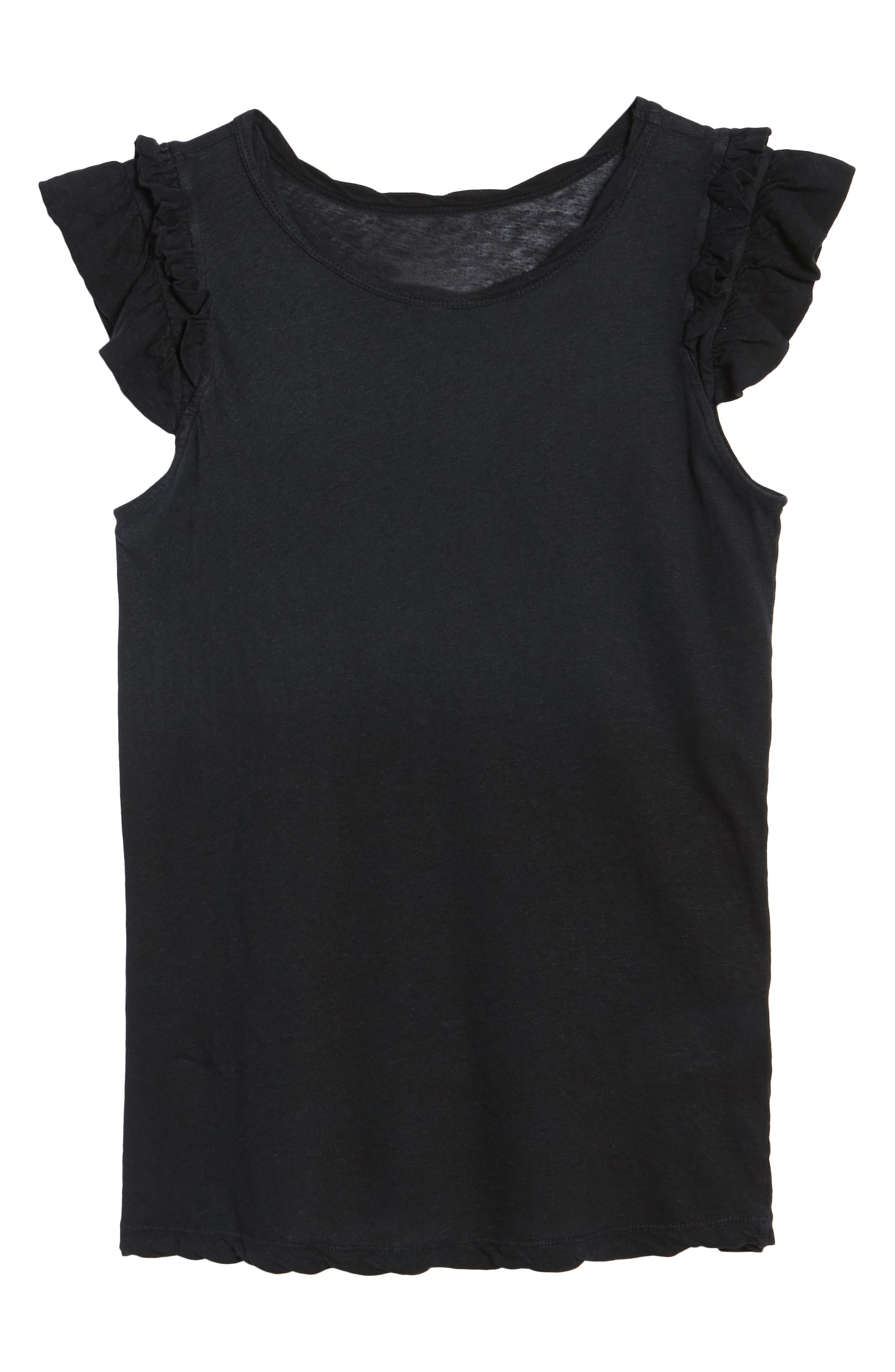 The Double Ruffle Muscle Tee,                             Alternate thumbnail 6, color,                             005