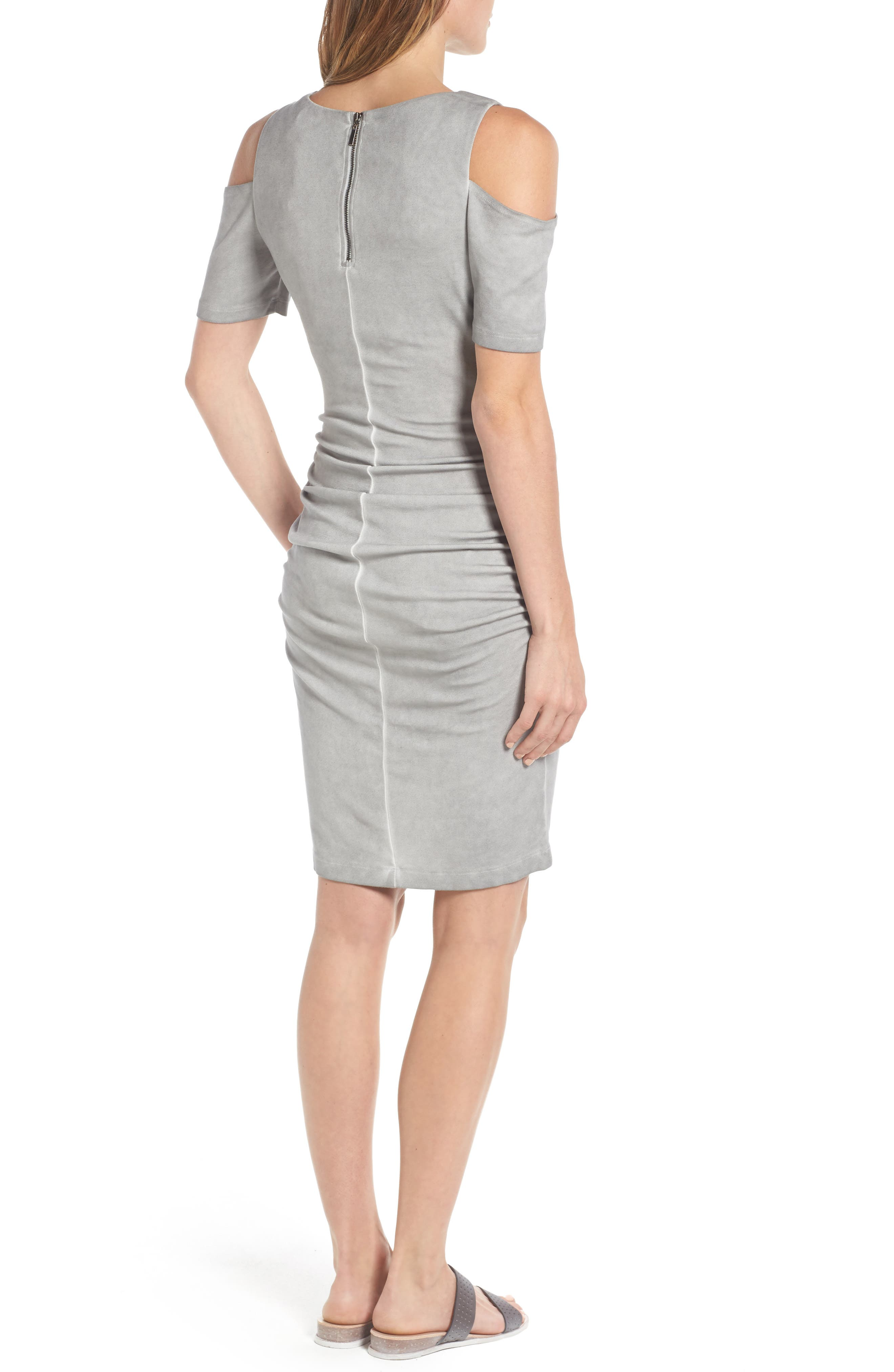 Rosie Cold Shoulder Body-Con Maternity Dress,                             Alternate thumbnail 2, color,                             007