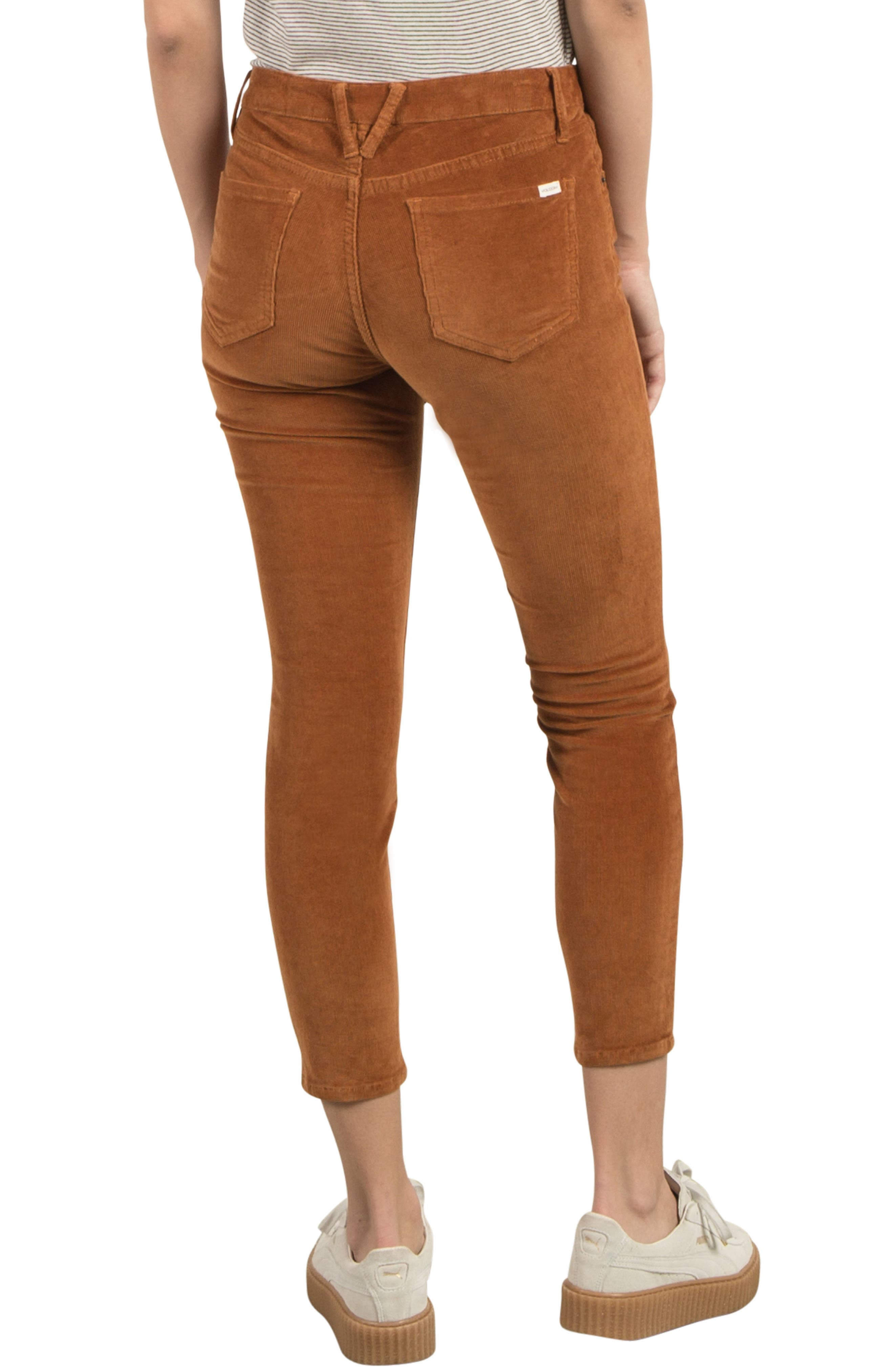 Corduroy Ankle Skinny Jeans,                             Alternate thumbnail 2, color,                             200