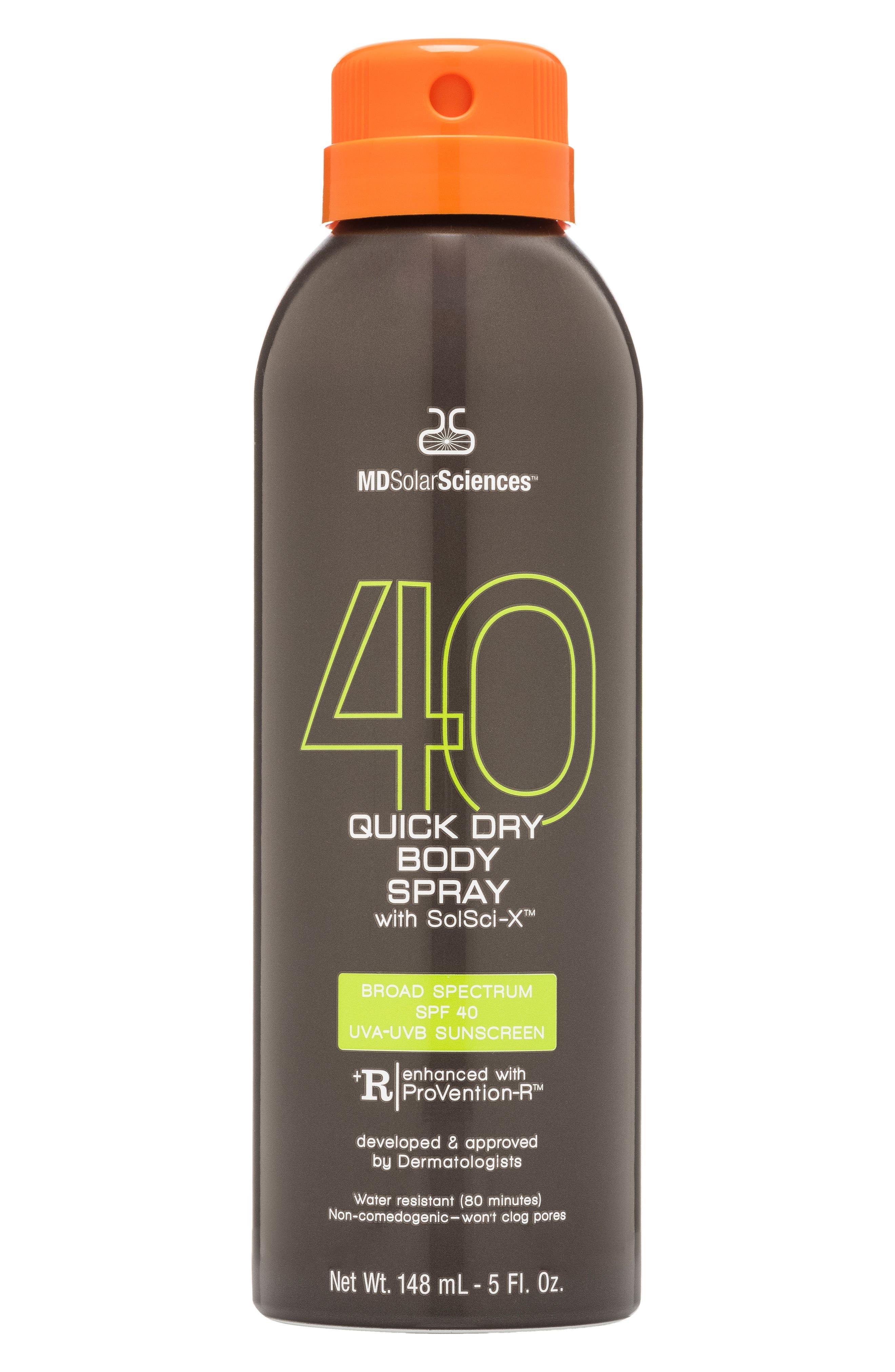 Quick Dry Body Spray Broad Spectrum SPF 40 Sunscreen,                             Alternate thumbnail 2, color,                             000