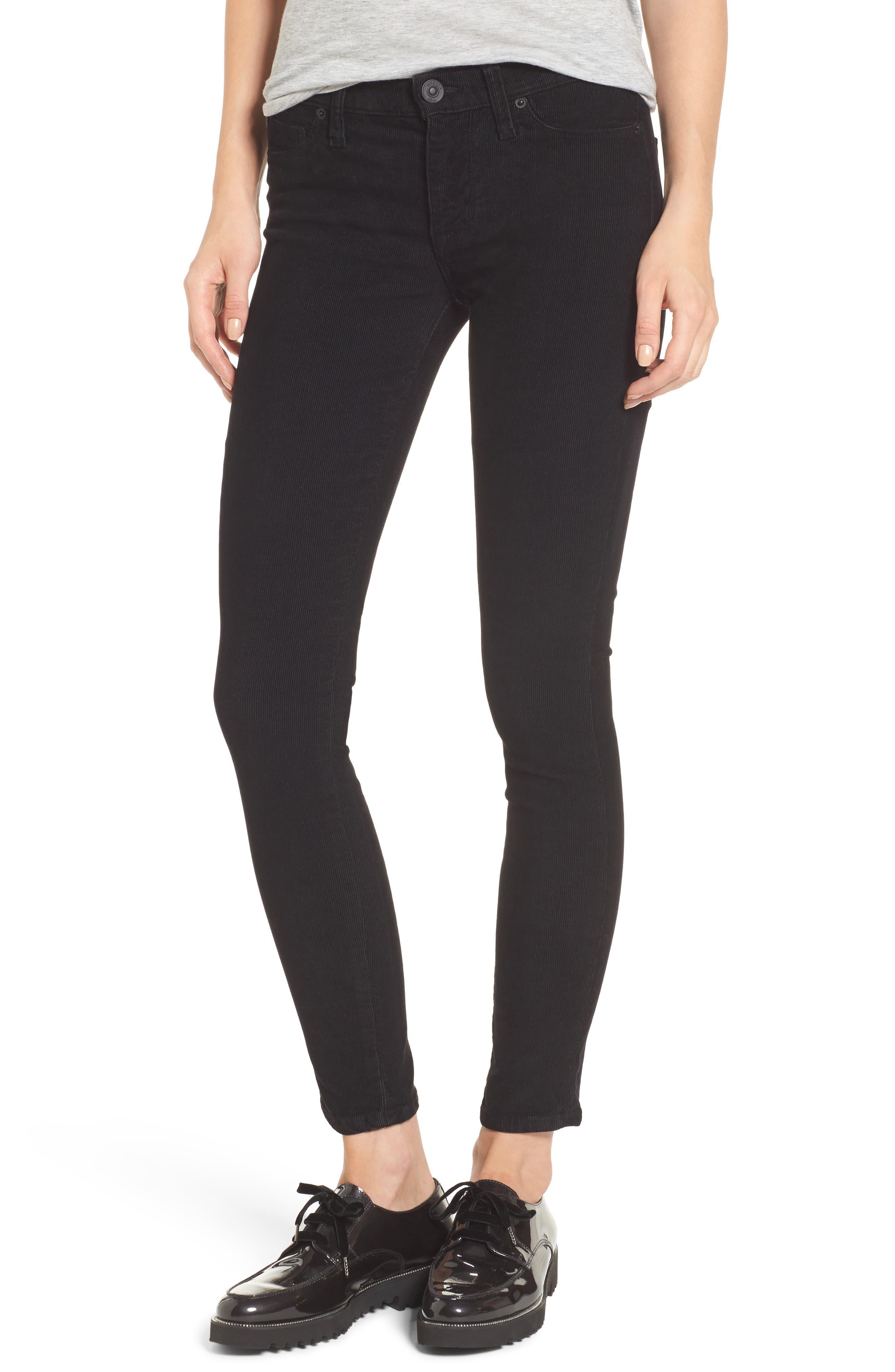 Nico Ankle Super Skinny Corduroy Pants,                             Main thumbnail 1, color,                             001
