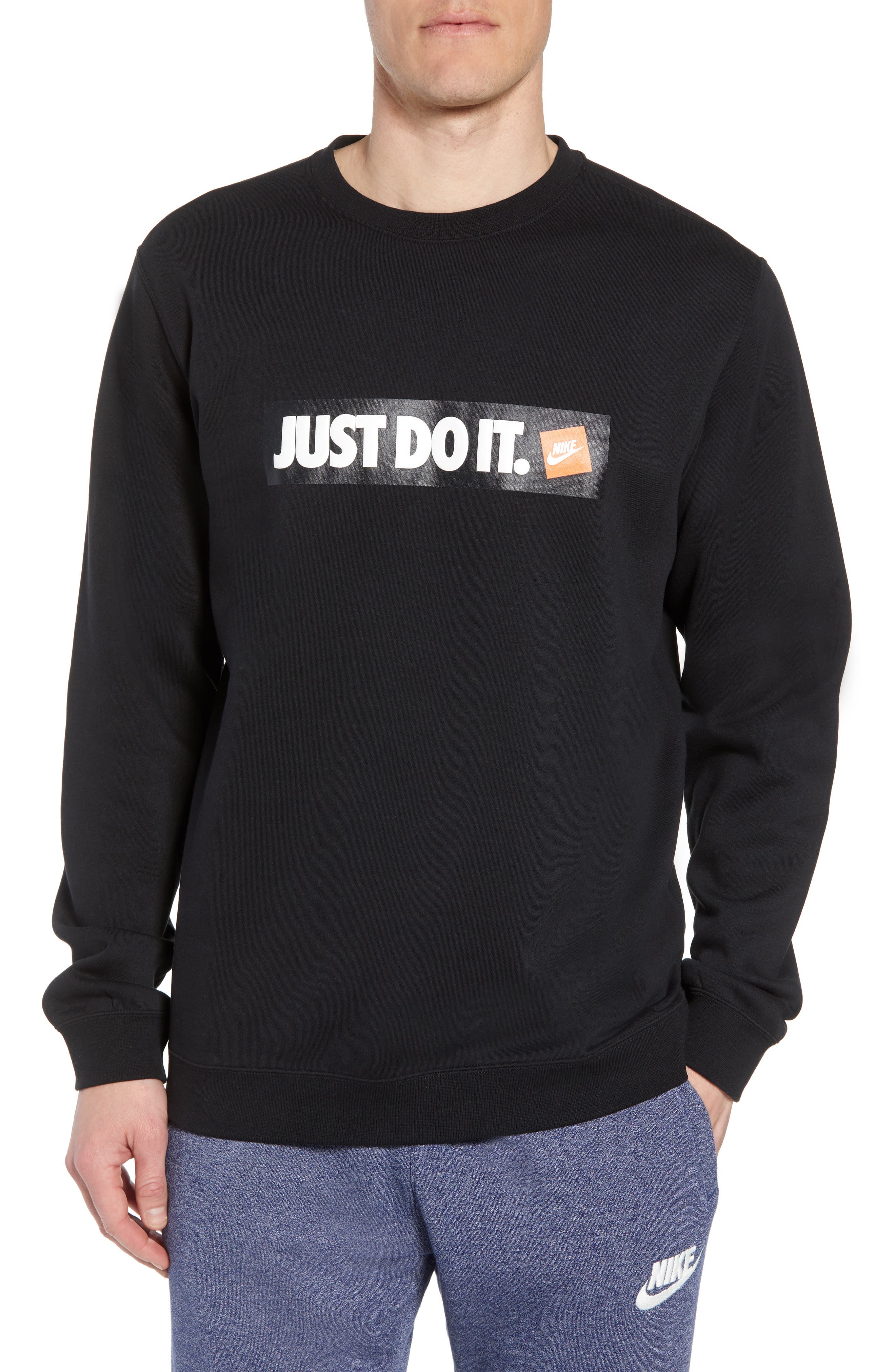 Just Do It Logo Sweatshirt,                             Main thumbnail 1, color,                             010