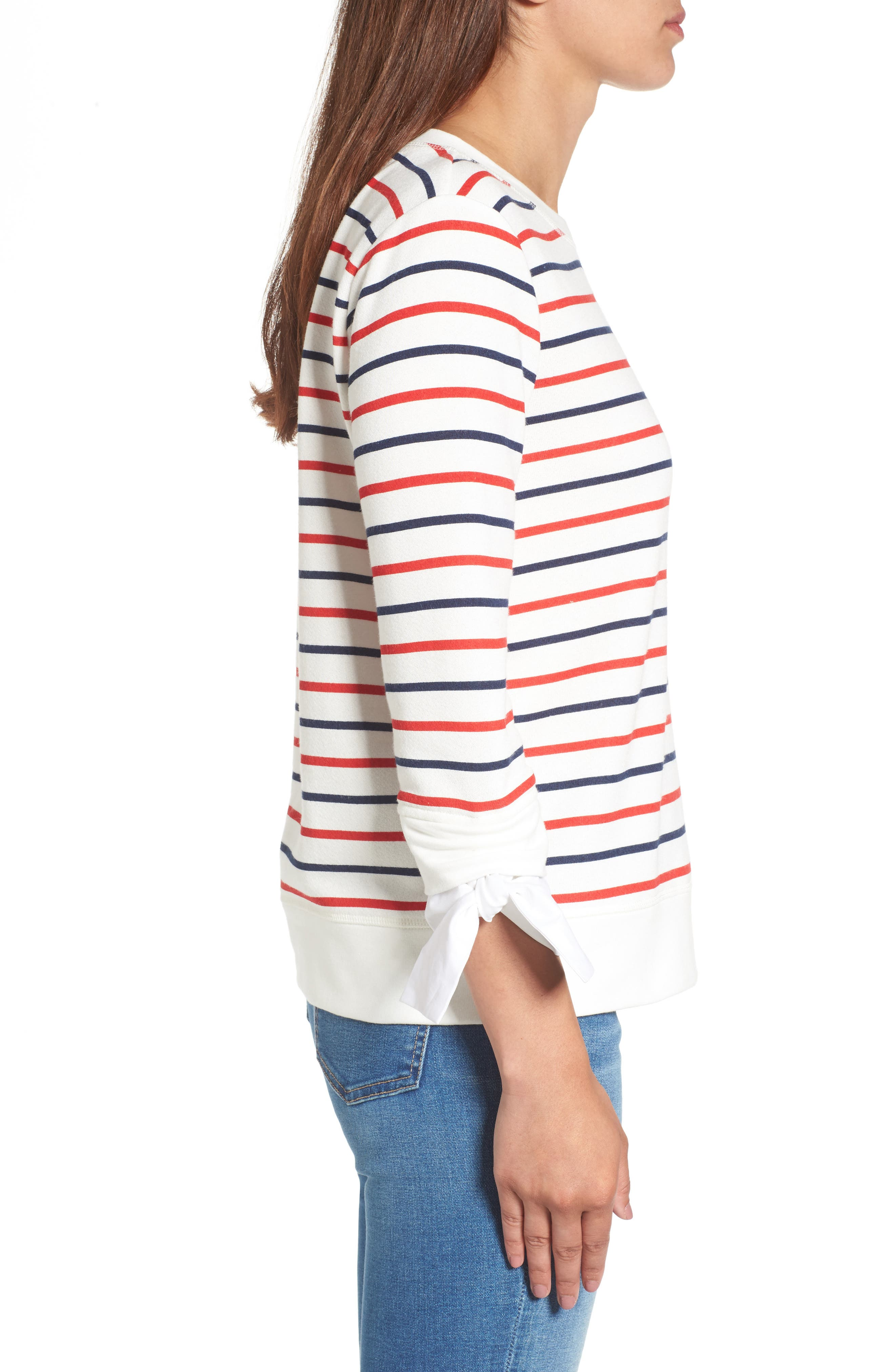 Tie Sleeve Sweatshirt,                             Alternate thumbnail 3, color,                             419