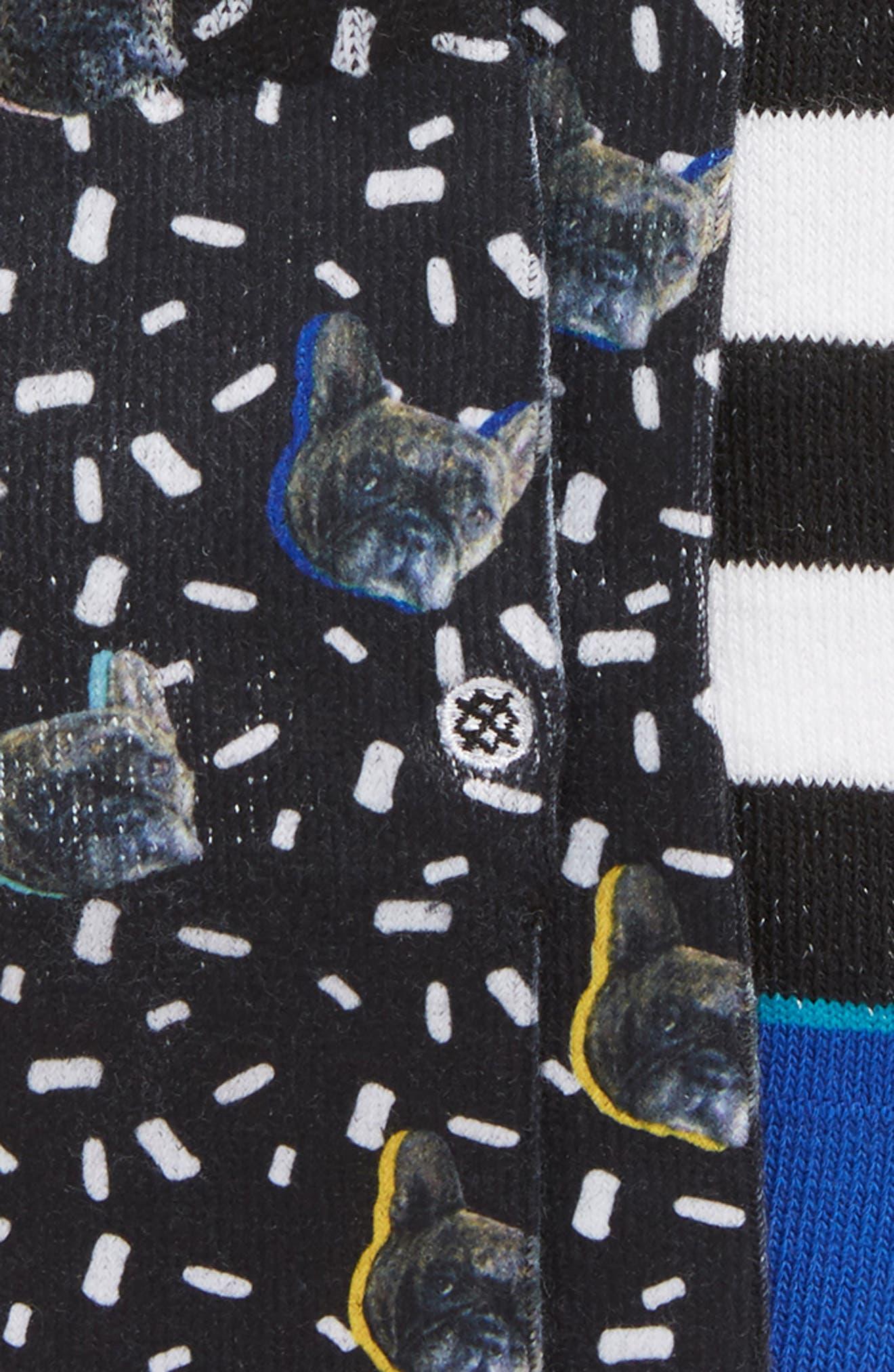 3-Pack Napkin Apocalypse Assorted Socks,                             Alternate thumbnail 2, color,                             400