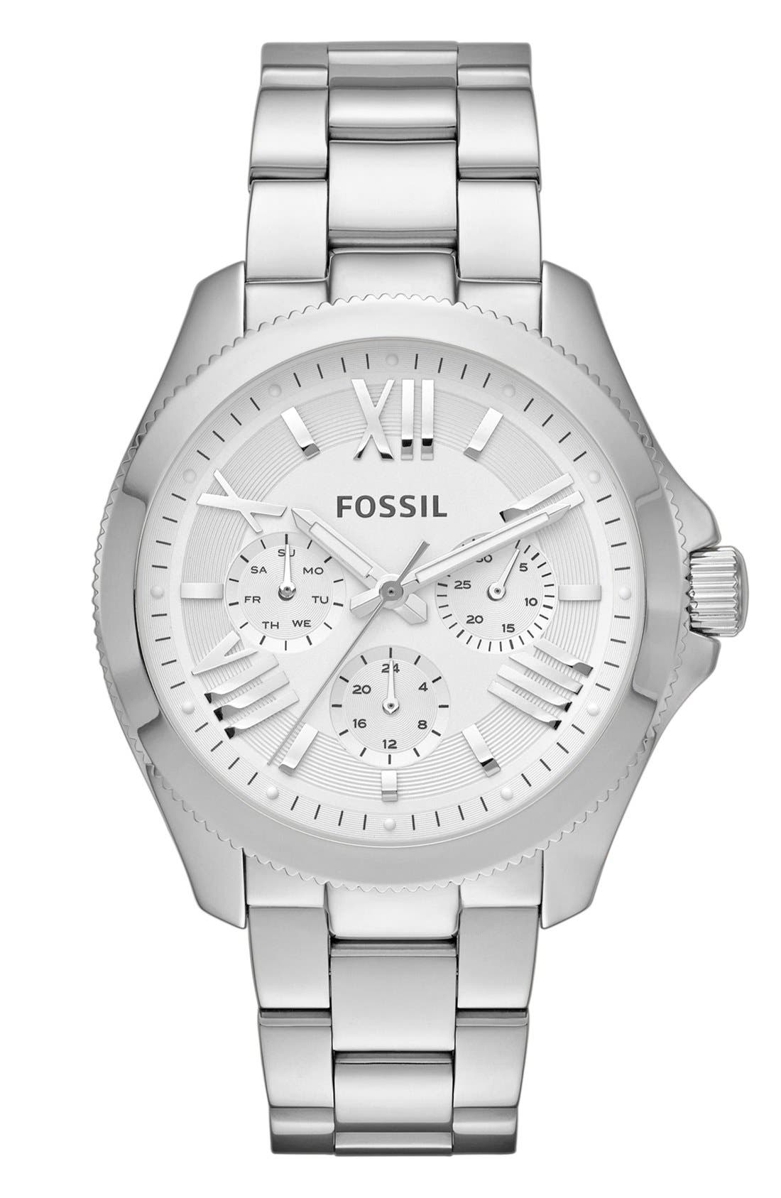 FOSSIL,                             'Cecile' Multifunction Bracelet Watch, 40mm,                             Main thumbnail 1, color,                             040