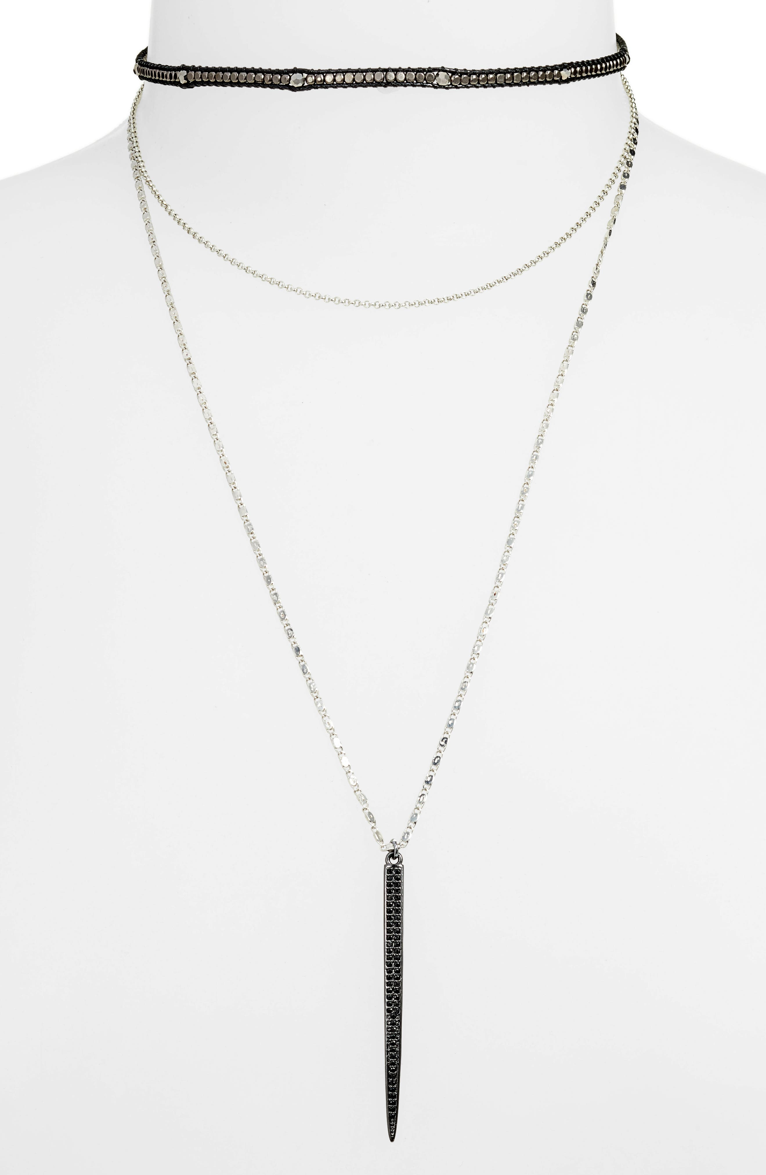 Layered Choker Necklace,                         Main,                         color, 020