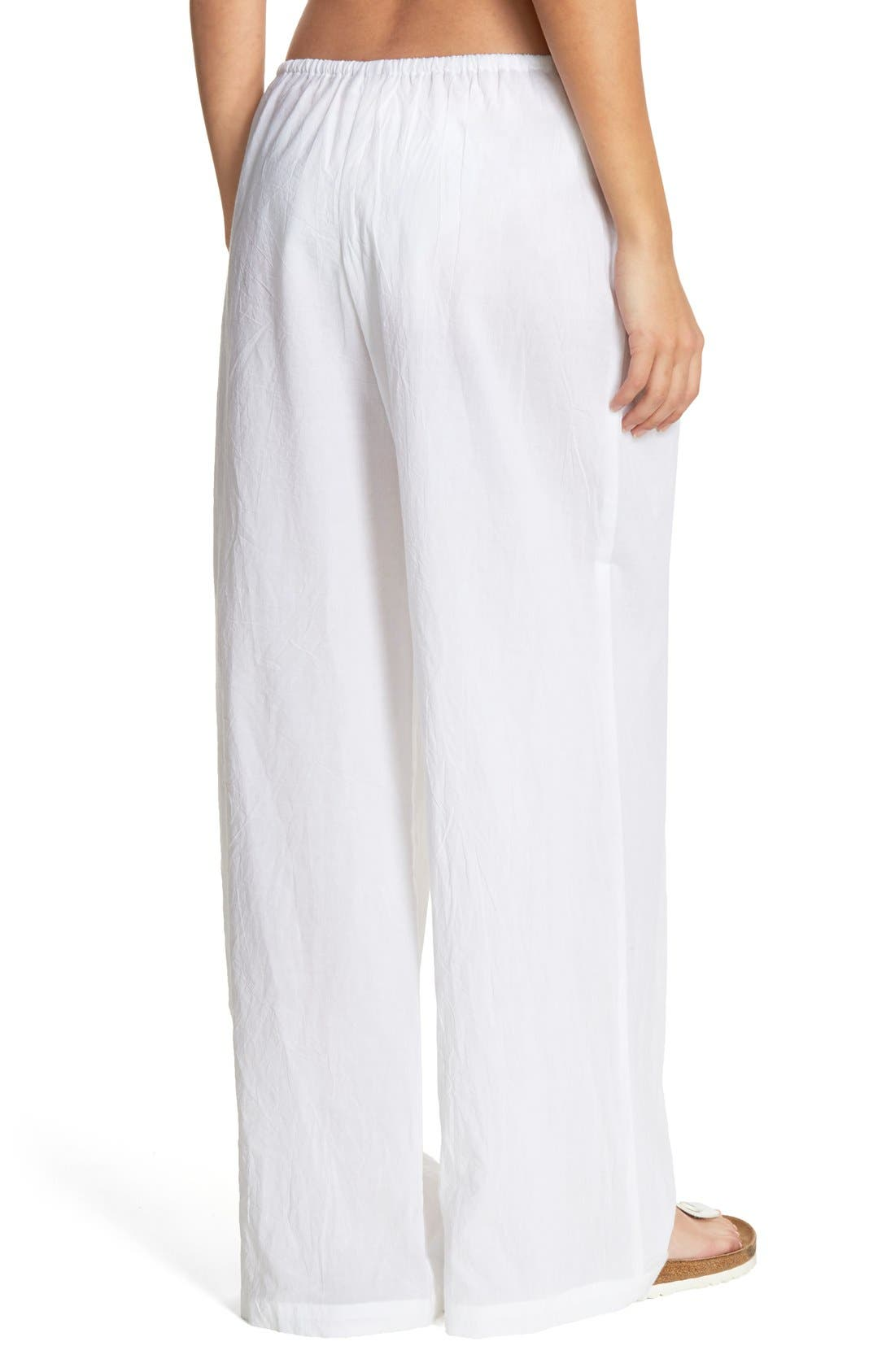 Cover-Up Pants,                             Alternate thumbnail 3, color,                             WHITE