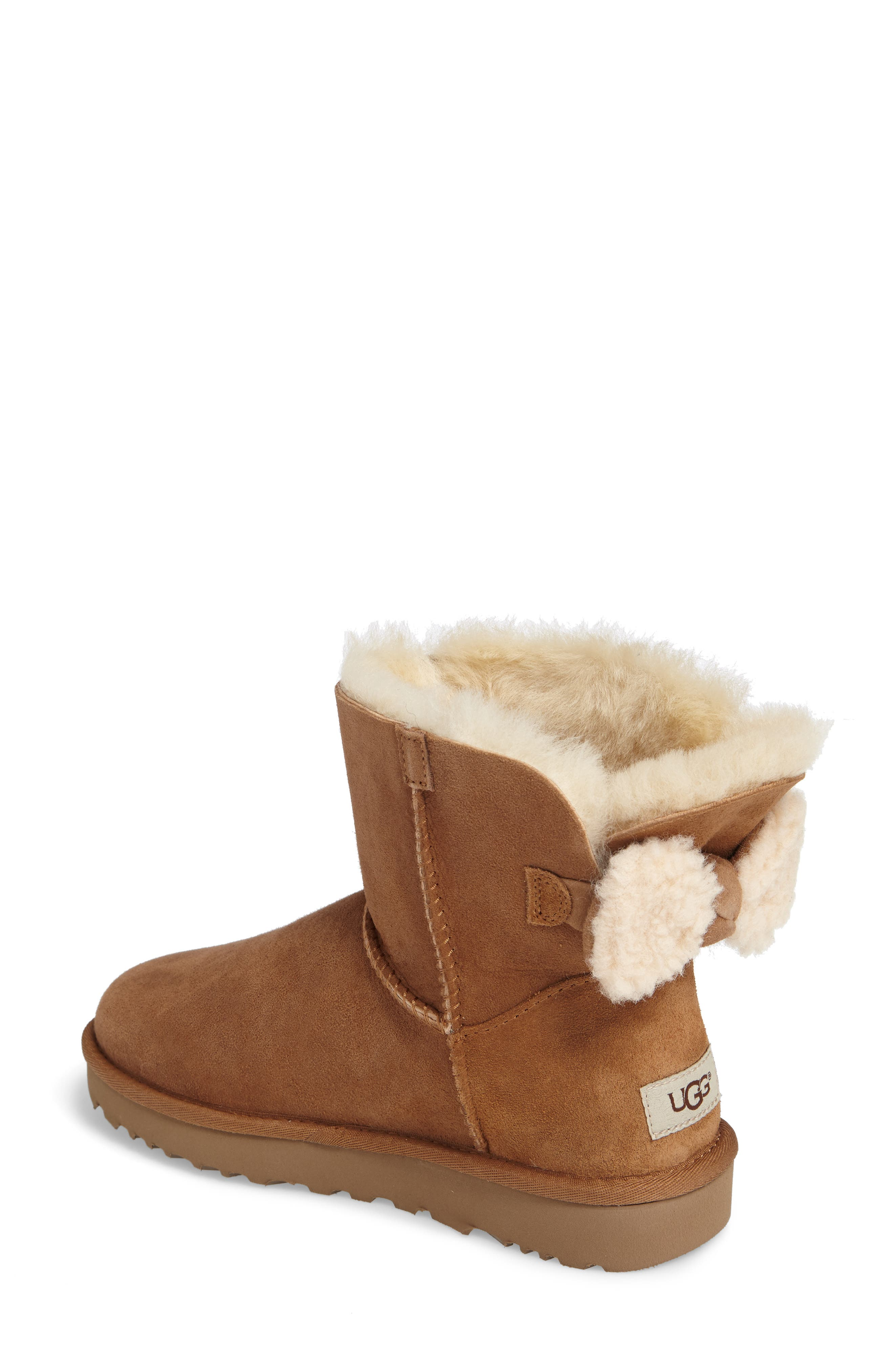 Arielle Genuine Shearling Bootie,                             Alternate thumbnail 5, color,